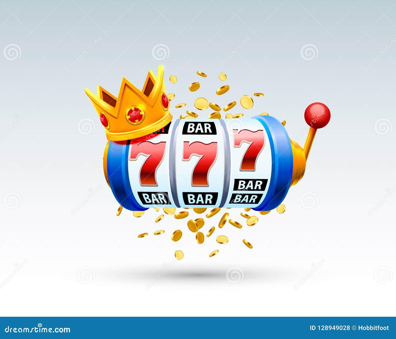 Le roi raine le casino de 777 bannières