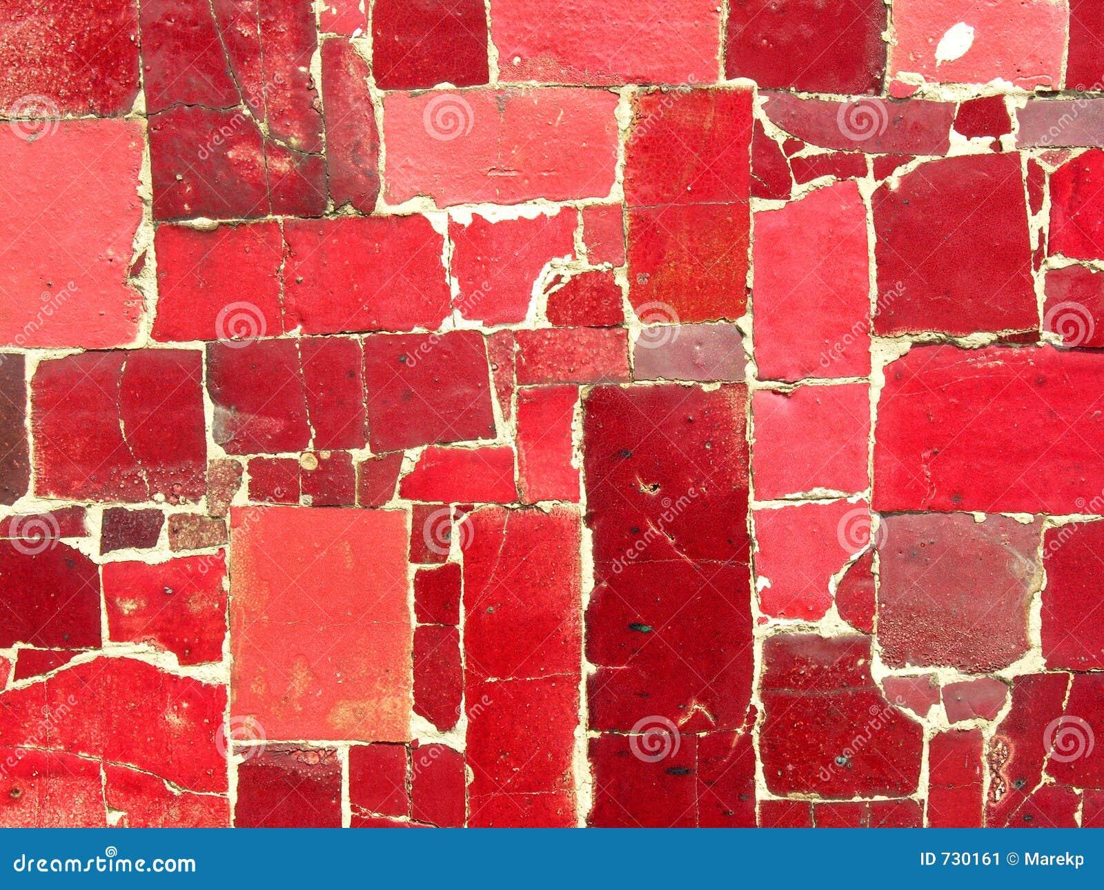 Le rouge couvre de tuiles la mosaïque - configuration faite au hasard