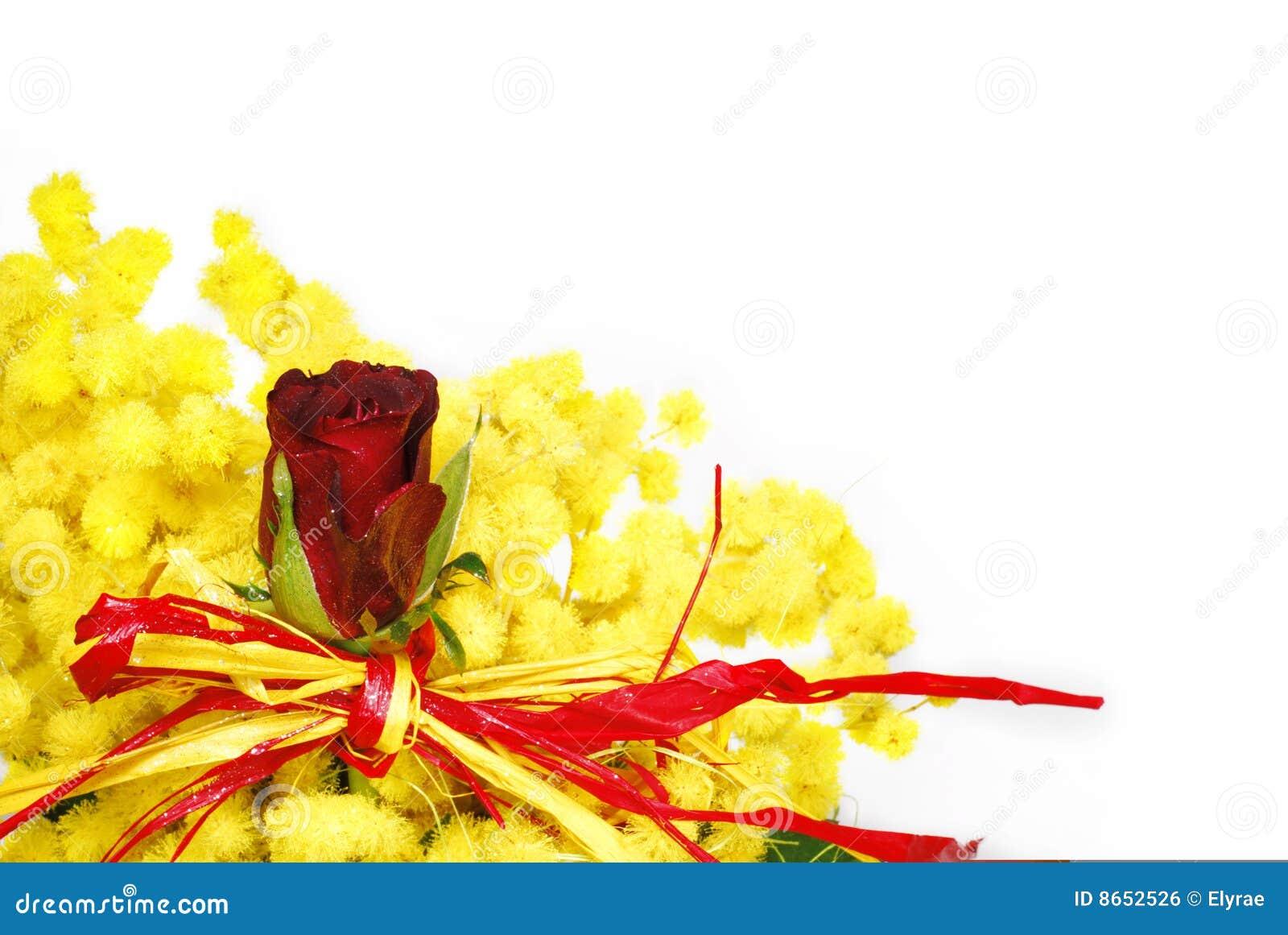 Le rouge de bouquet a monté