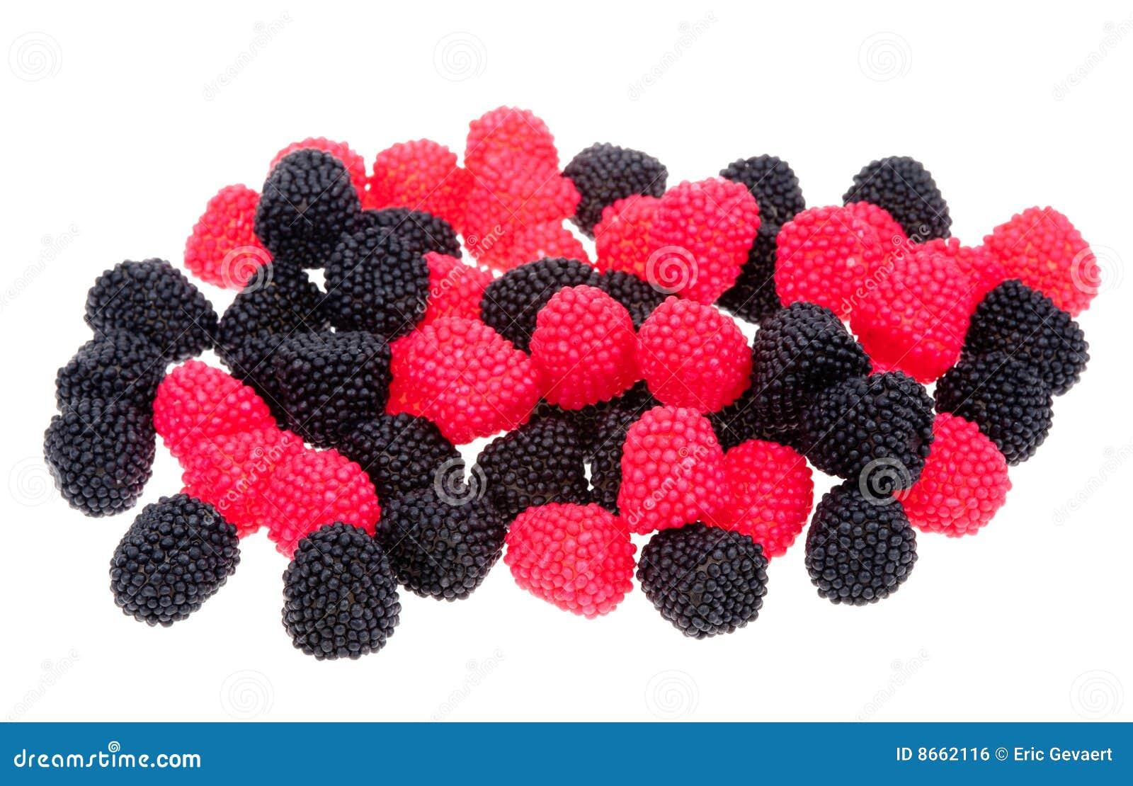 Le rouge noir de sucreries de baie a formé