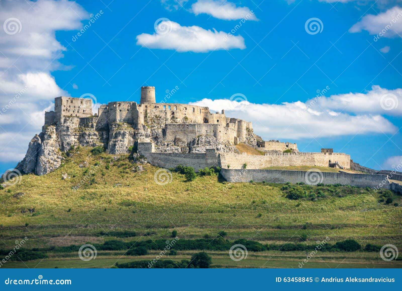 Le rovine del castello di Spis, Slovacchia