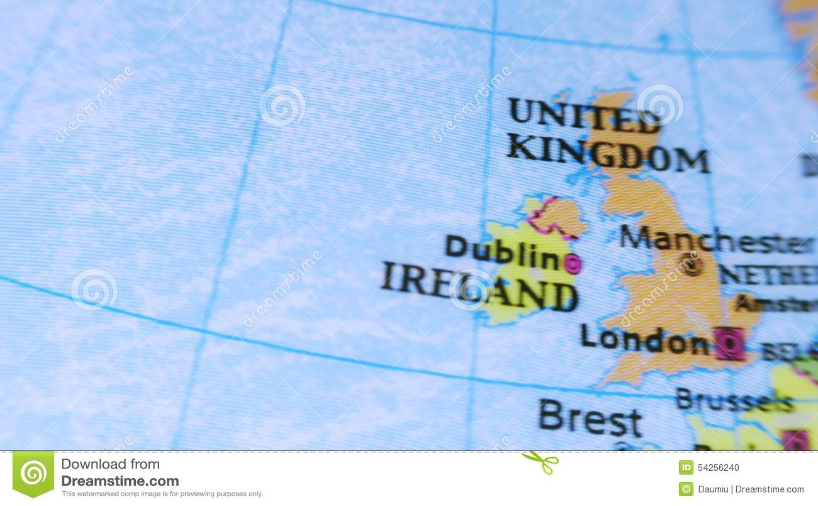 Le Royaume Uni Globe Terrestre 4k Banque De Vid Os Vid O Du