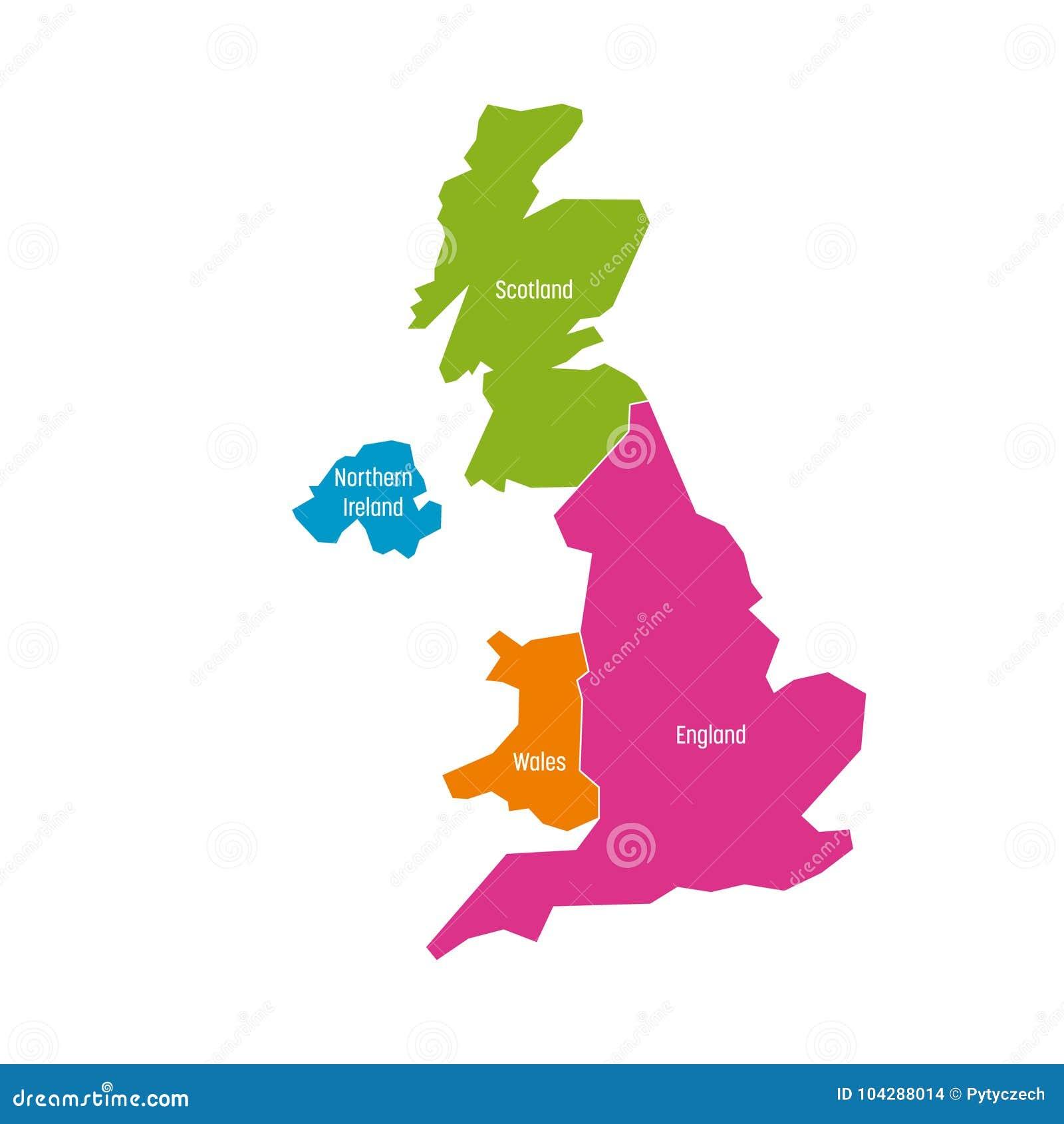 Carte Irlande Simple.Le Royaume Uni R U De Carte De La Grande Bretagne Et De L