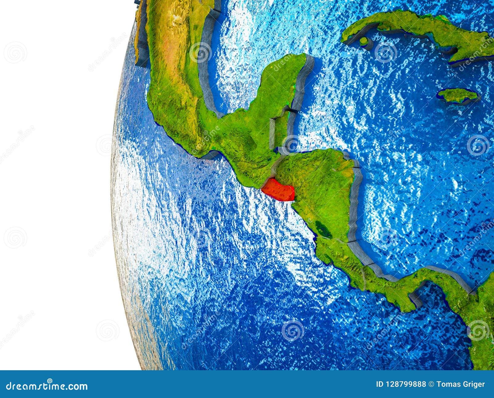 Le Salvador sur terre 3D