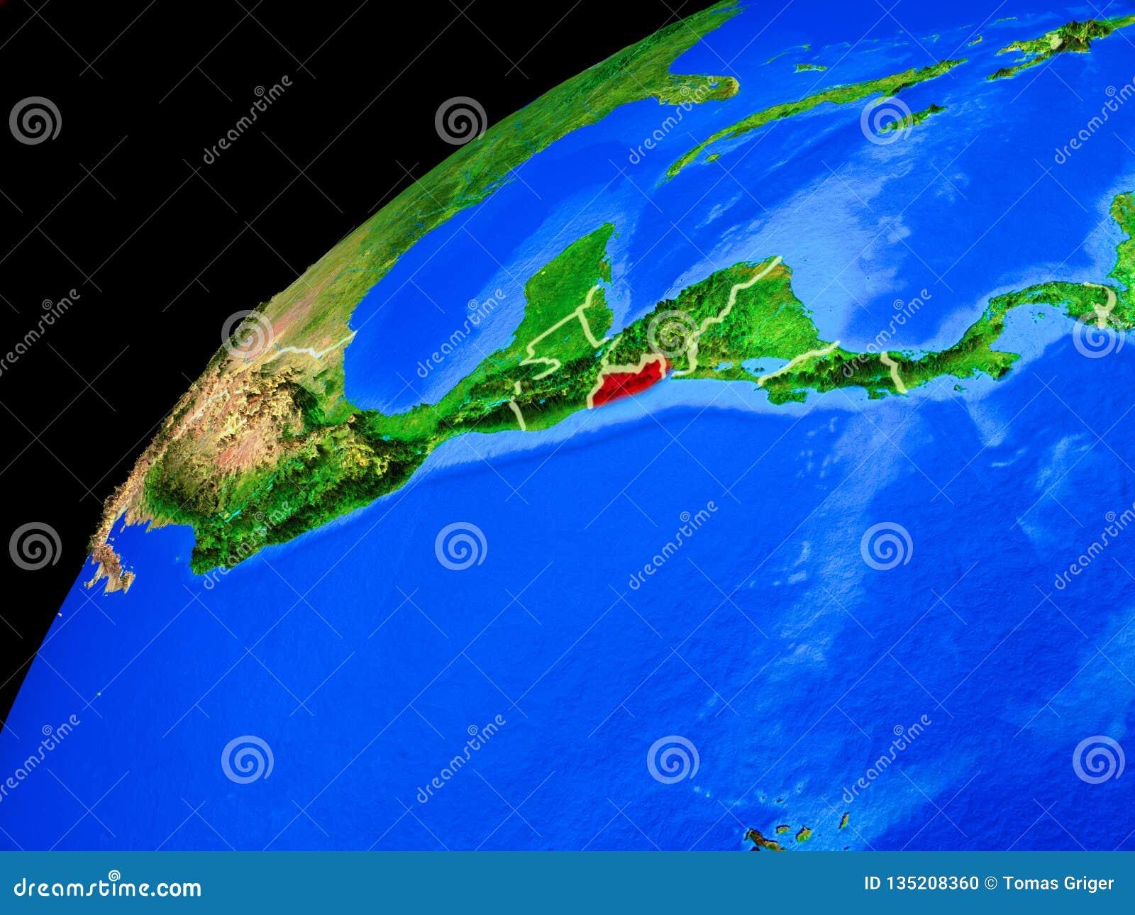 Le Salvador sur terre de l espace