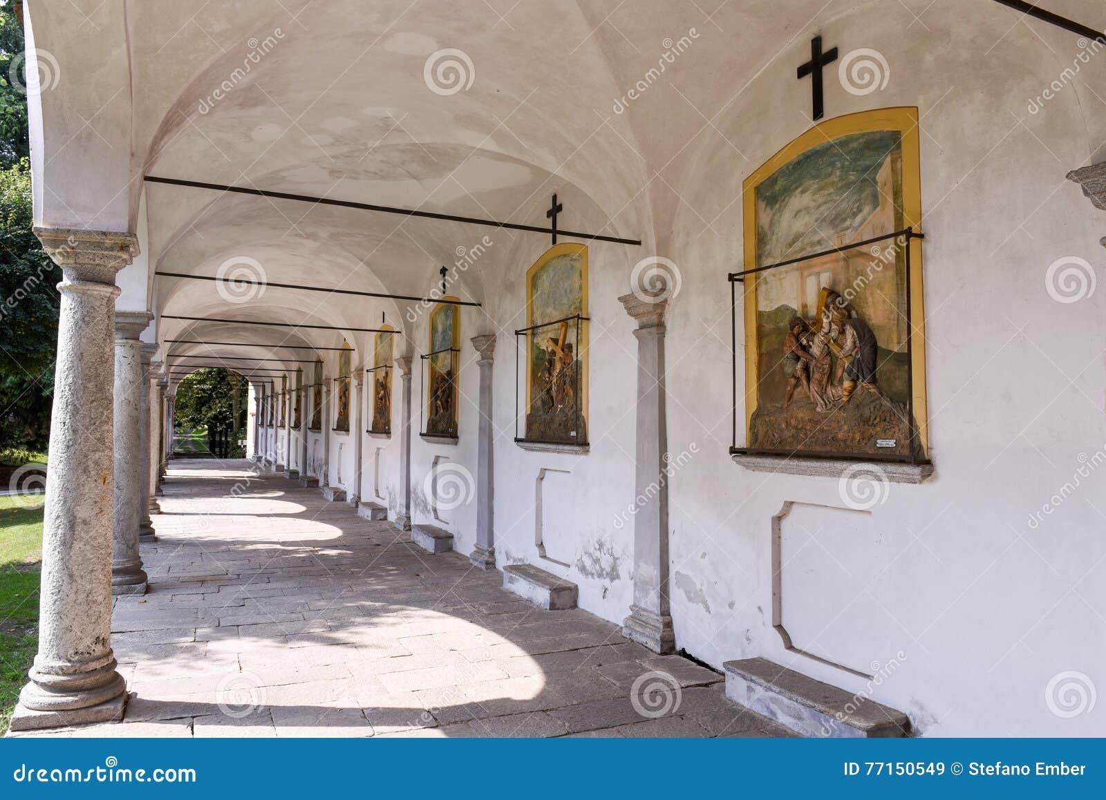 Le sanctuaire de Ghiffa sur l Italie