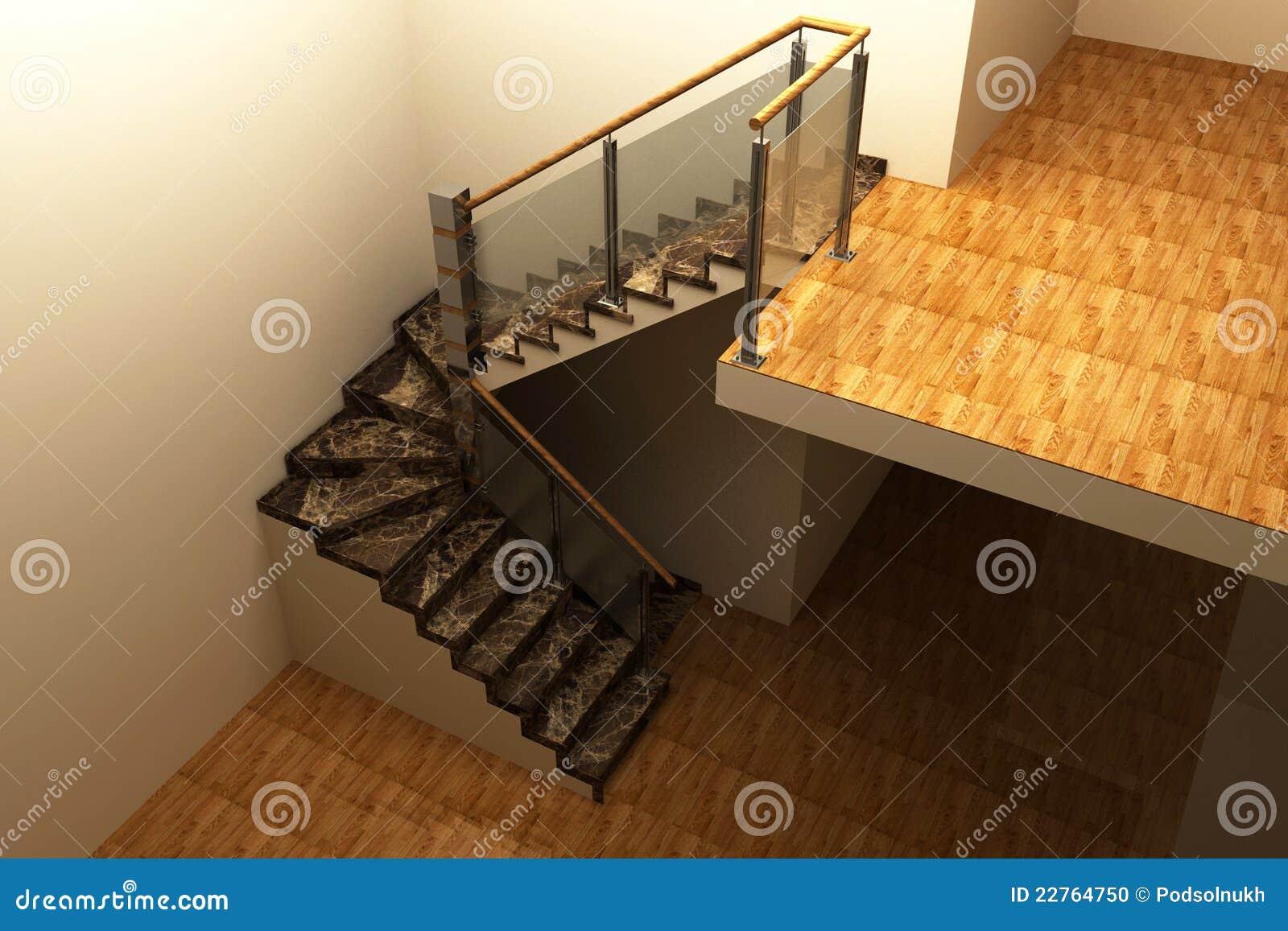 Le scale di marmo 3d illustrazione di stock immagine di - Scale di marmo ...