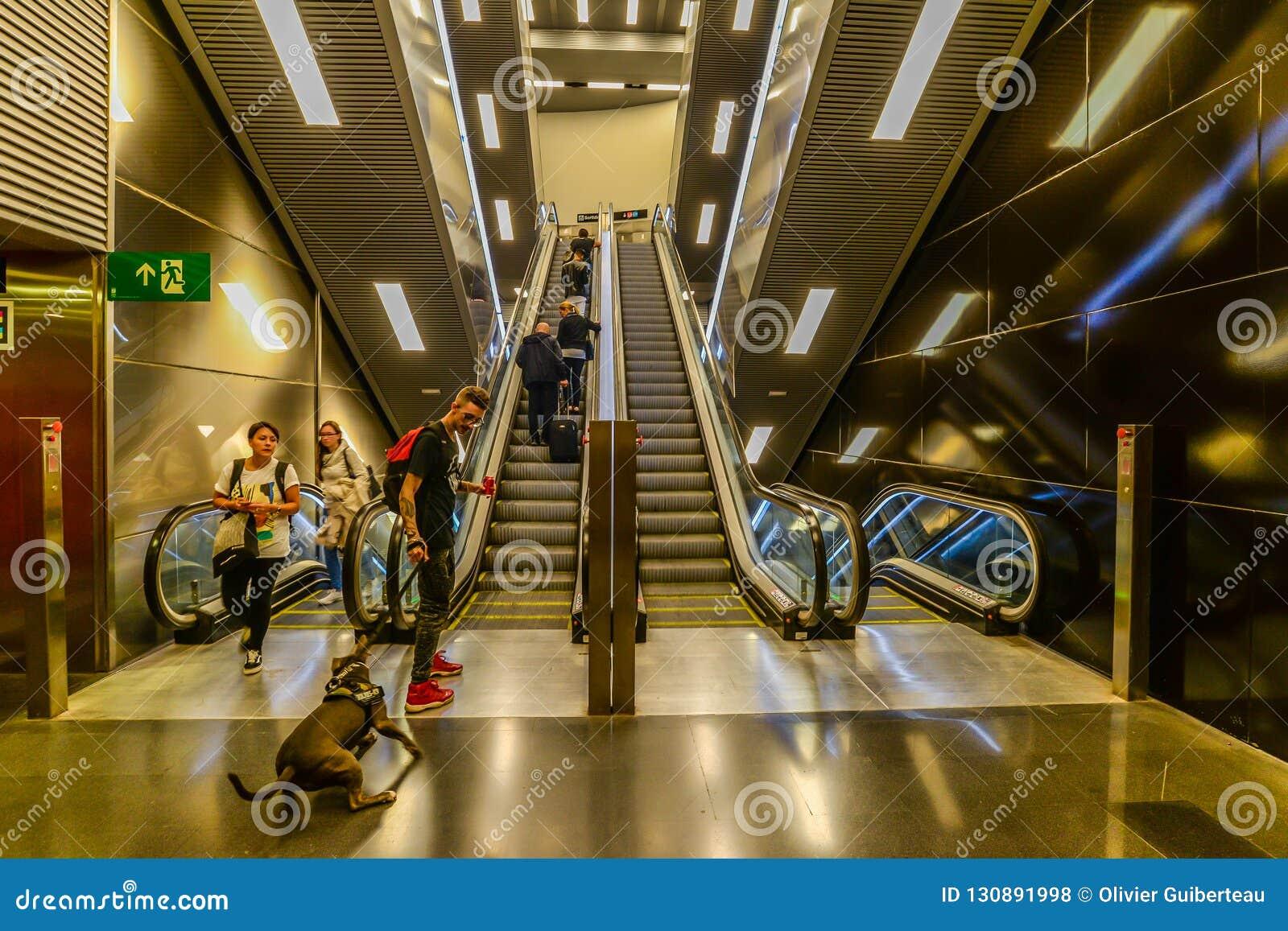 Le scale mobili Barcellona - in Spagna