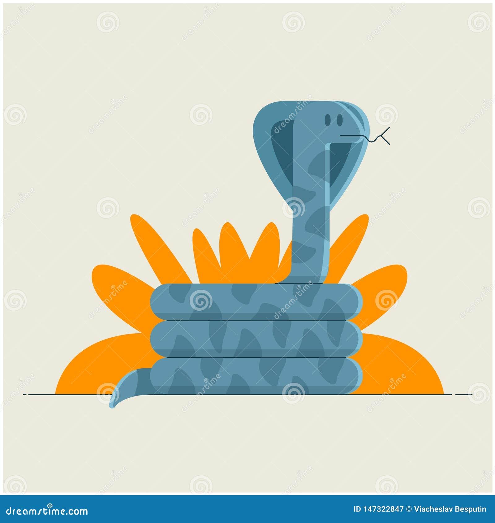 Le serpent se repose sous un buisson dans la jungle