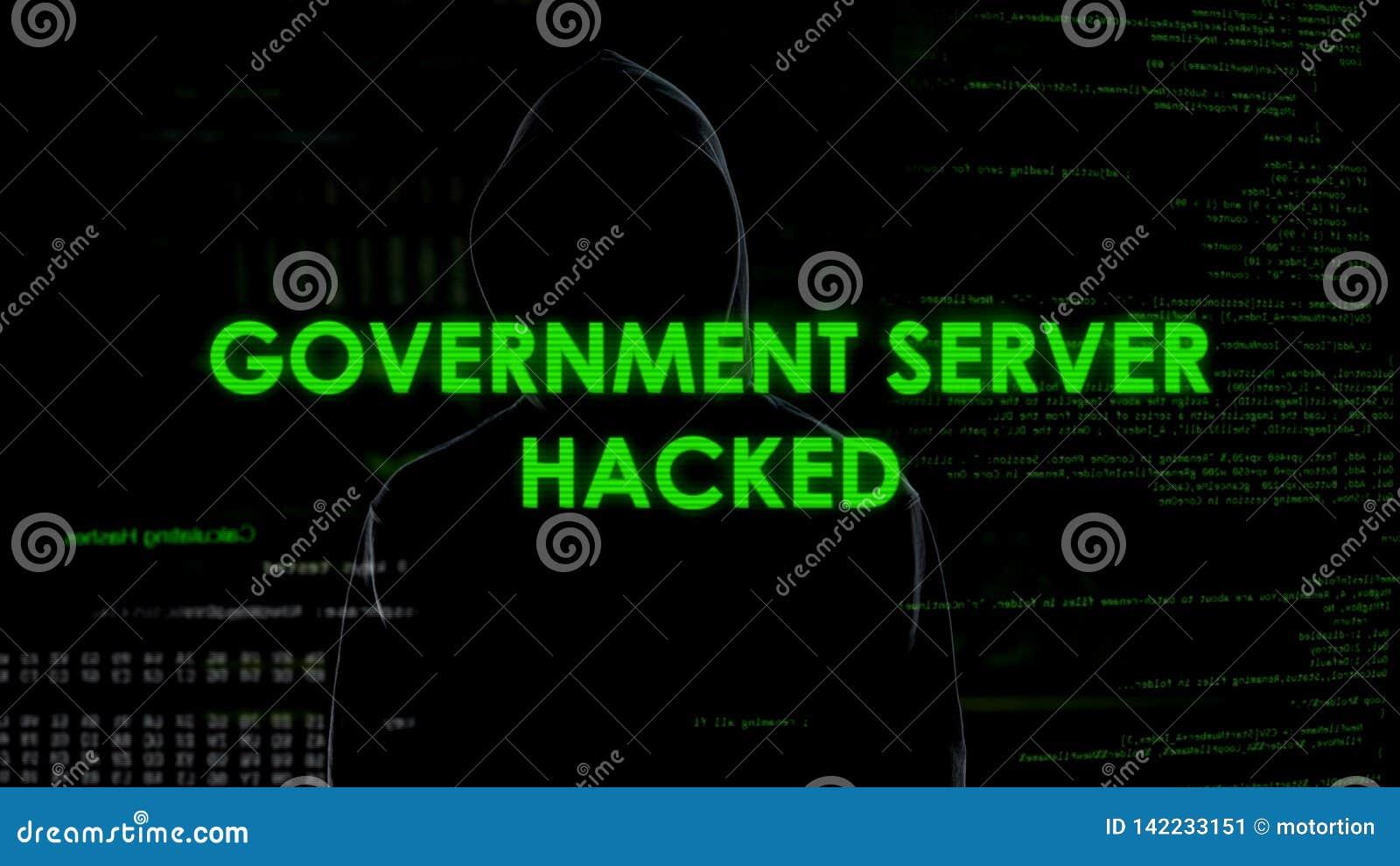 Le serveur de gouvernement a entaillé, menace pour la Sécurité d État, attaque sur la base de données secrète
