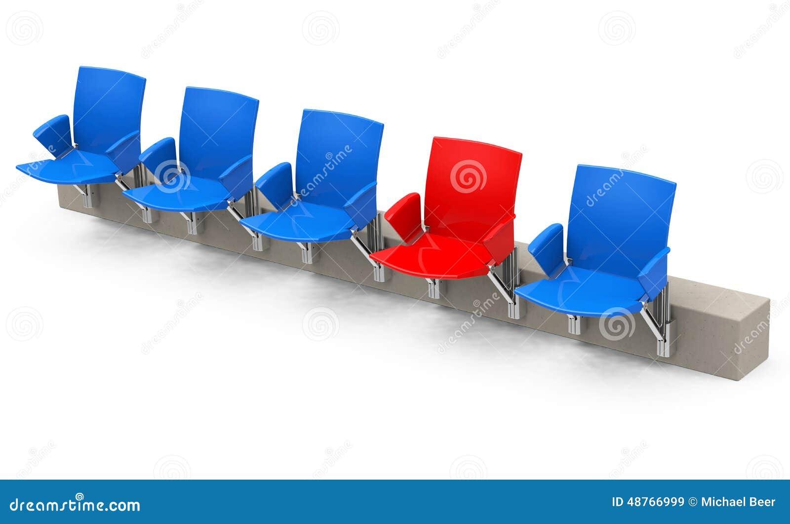 Le siège rouge