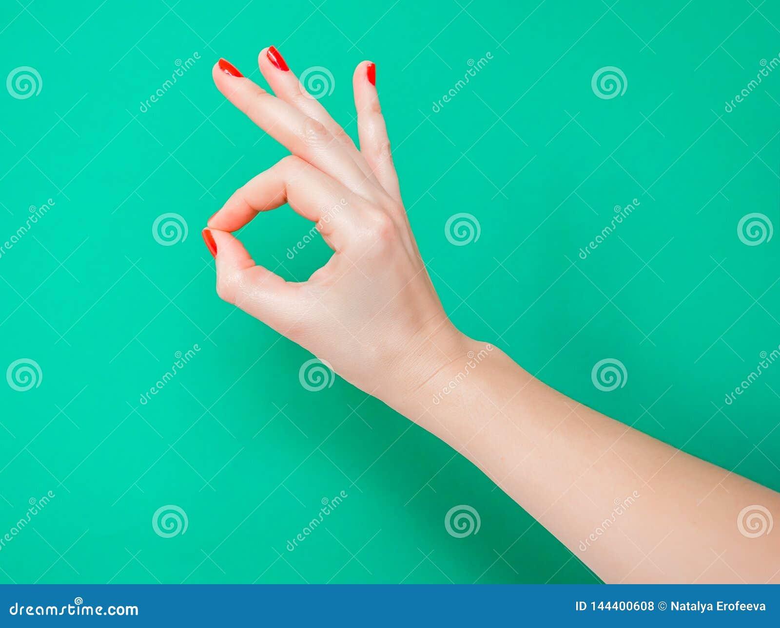 Le signe Un-correct de main est signifient que tout s allant juste très bien C est le geste de main parfait pour communiquer tout