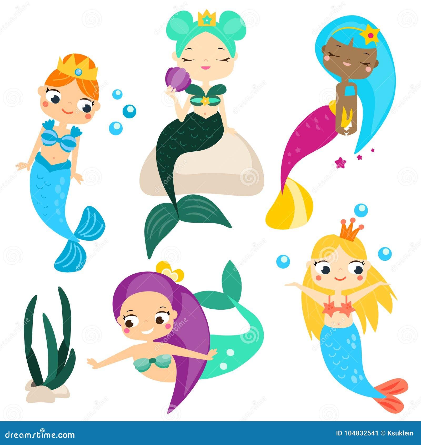 Le Sirene Sveglie Del Fumetto Mettono E Progettano Gli Elementi