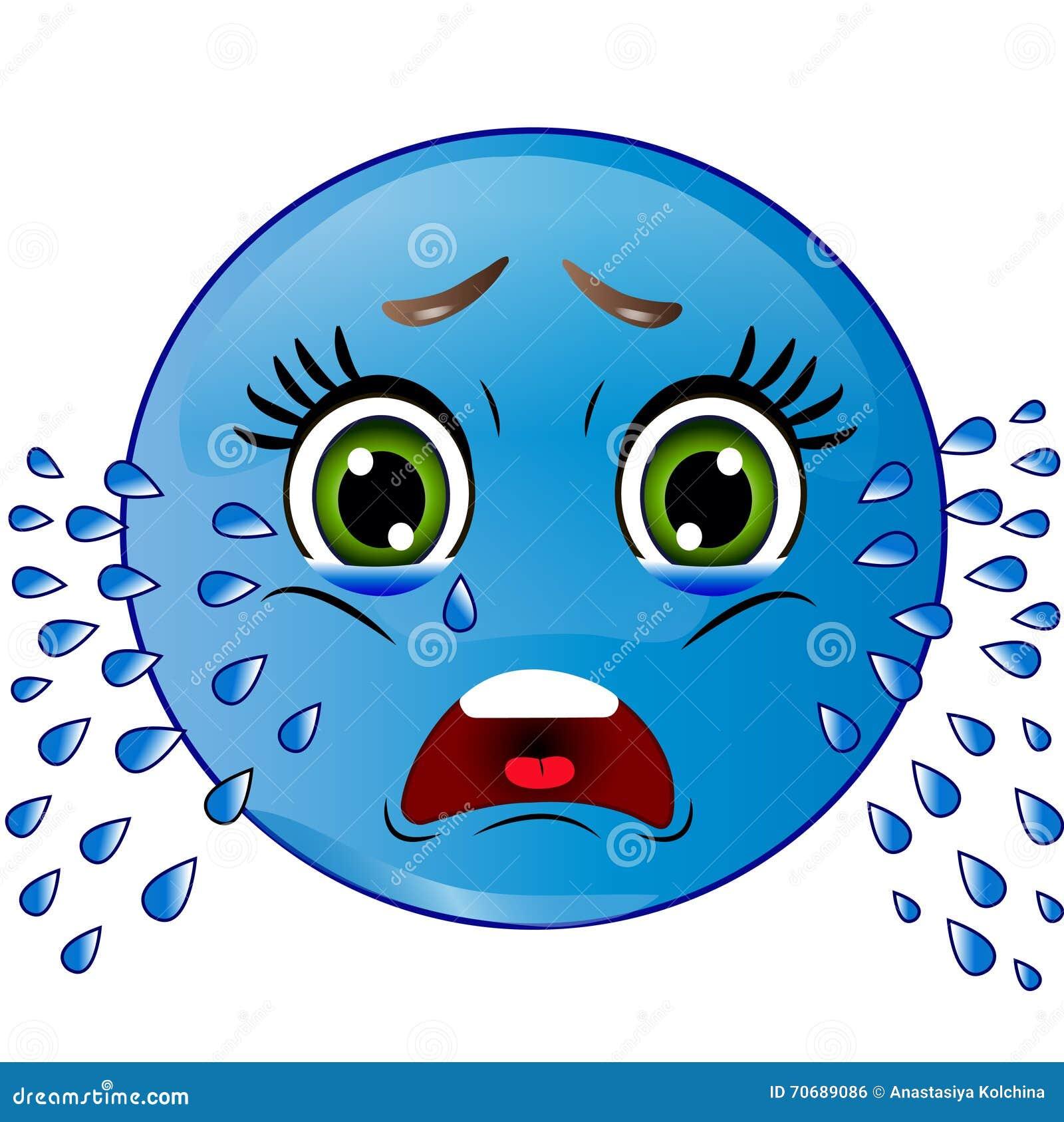Le Smiley Pleure Illustration De Vecteur Illustration Du Pleure 70689086