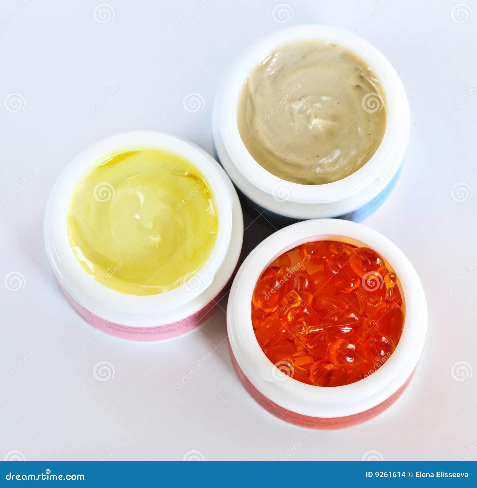 Le soin de peau écrème