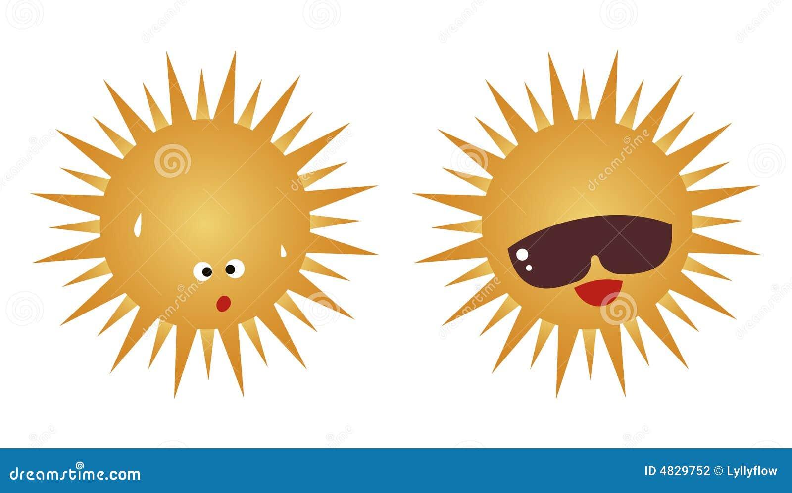Le soleil est chaud