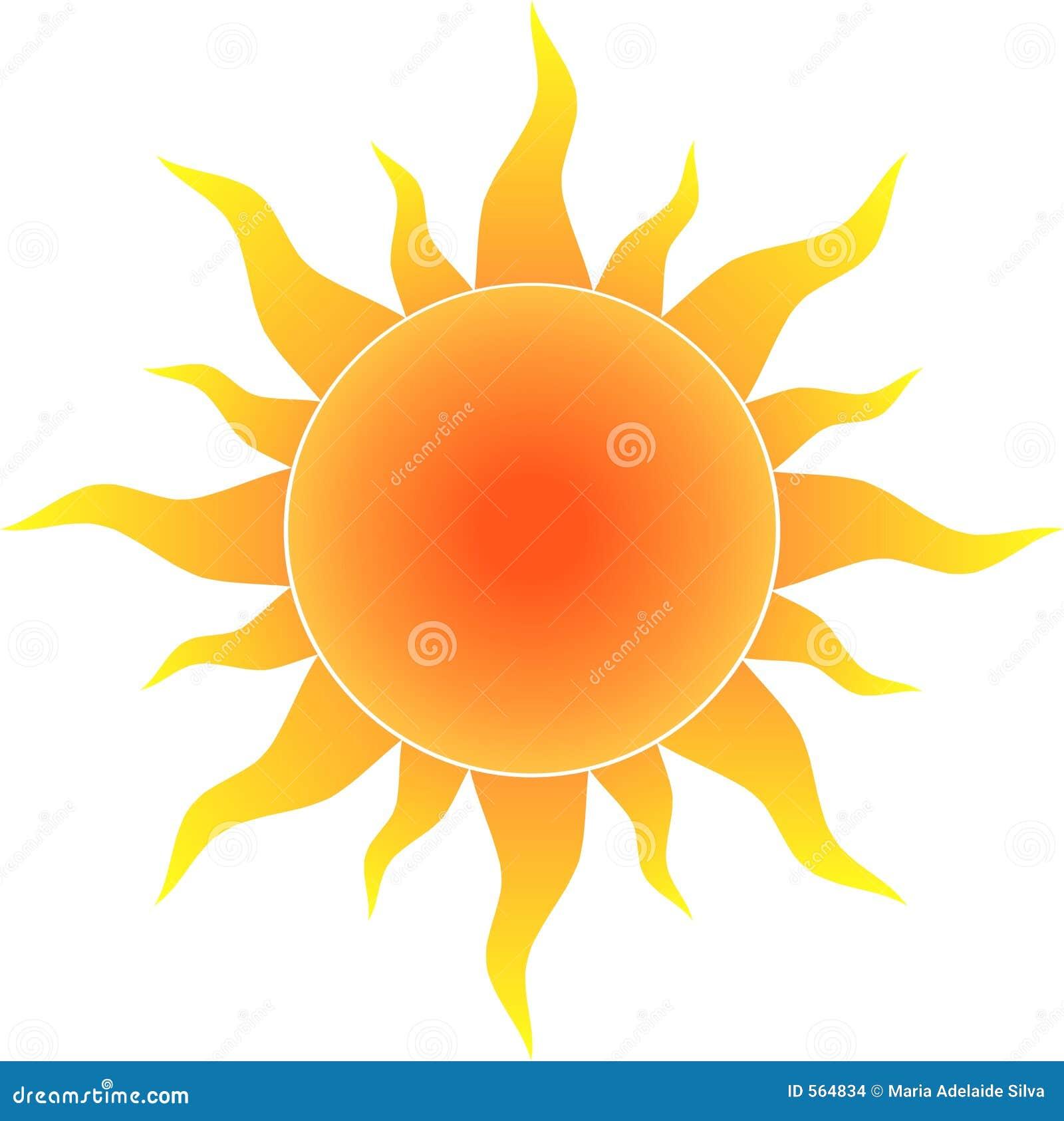 Le soleil chaud illustration stock illustration du rayons 564834 - Ragreer un sol ...