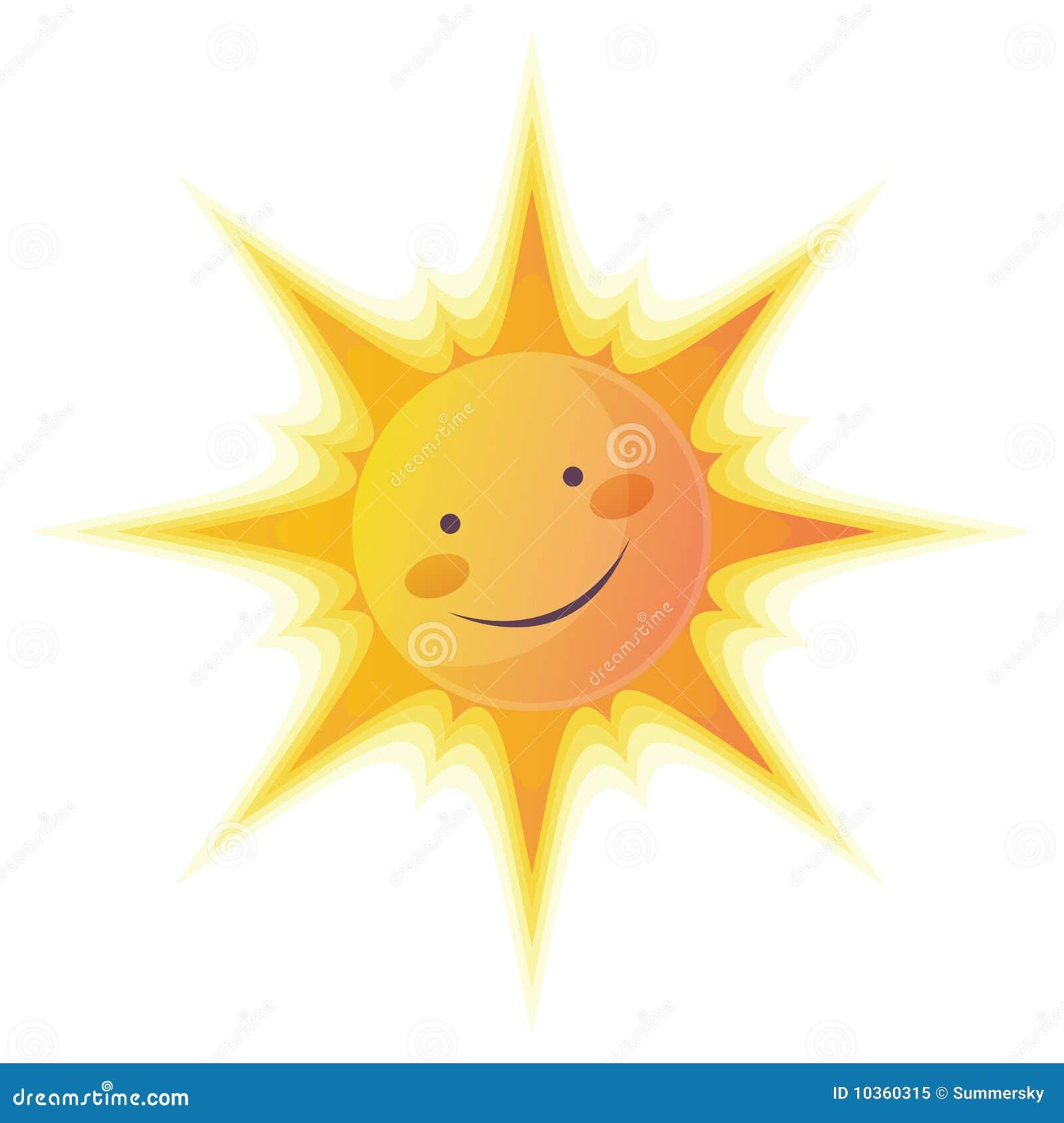 Le soleil de dessin anim illustration stock illustration - Dessin du soleil ...