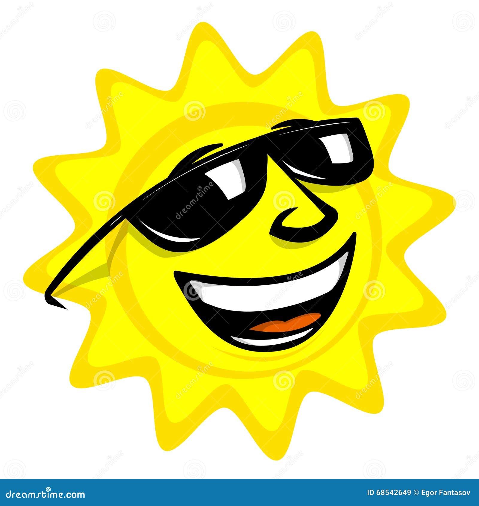 Le soleil de dessin anim illustration de vecteur - Dessin du soleil ...
