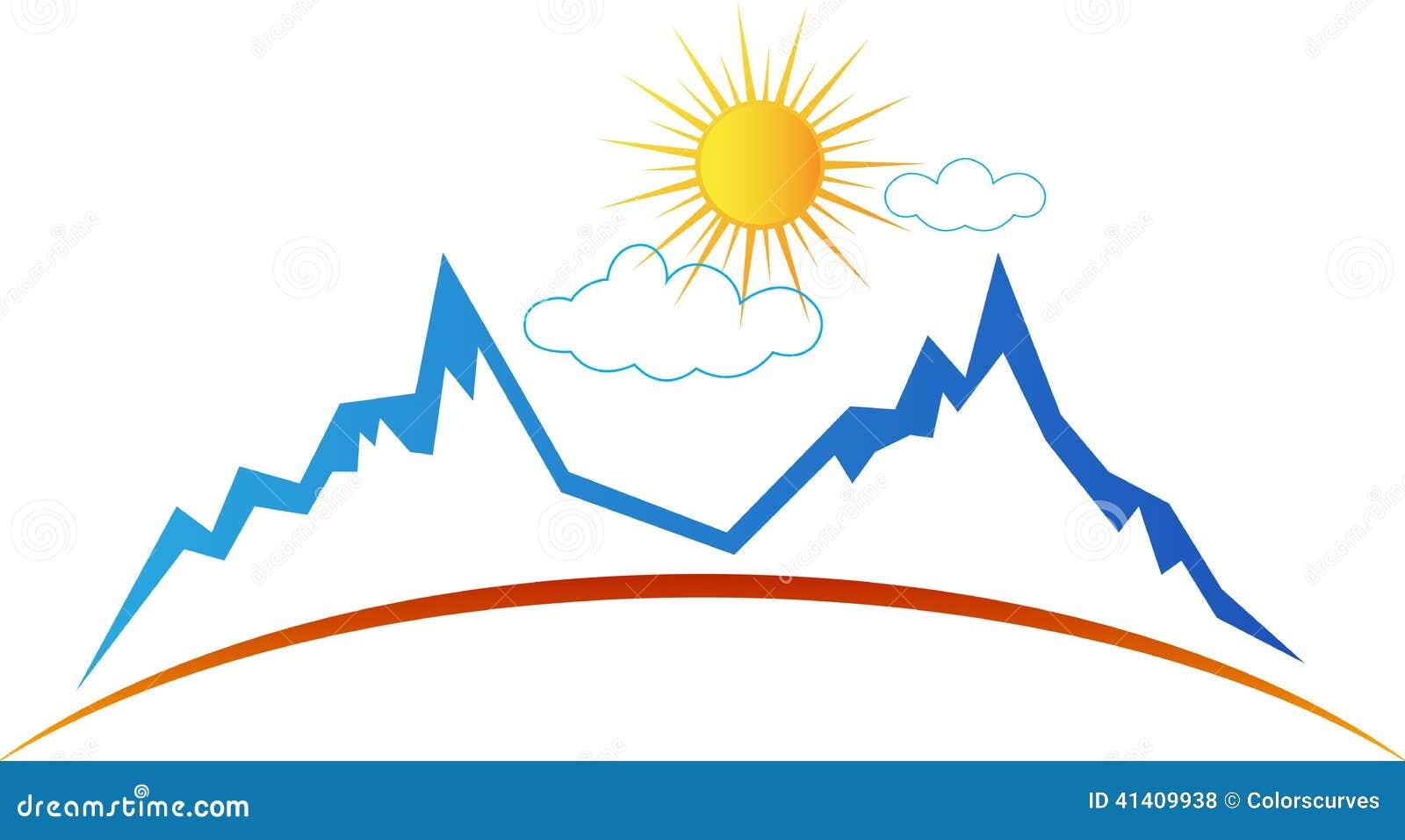 le soleil de montagne illustration de vecteur illustration du nuage 41409938. Black Bedroom Furniture Sets. Home Design Ideas