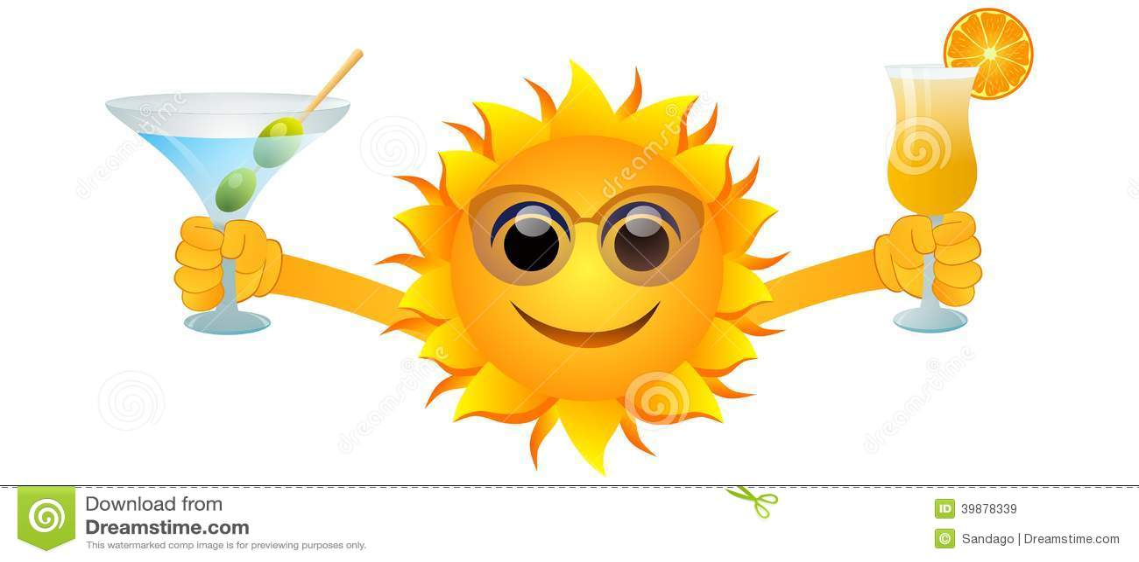 Le soleil et boissons d été
