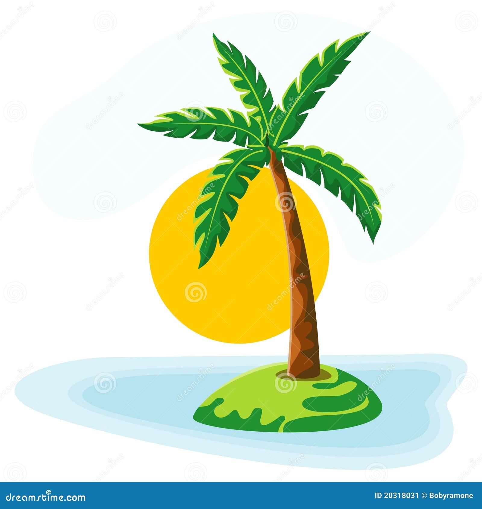 Le soleil et ciel de mer de palmier image stock image - Image palmier ...