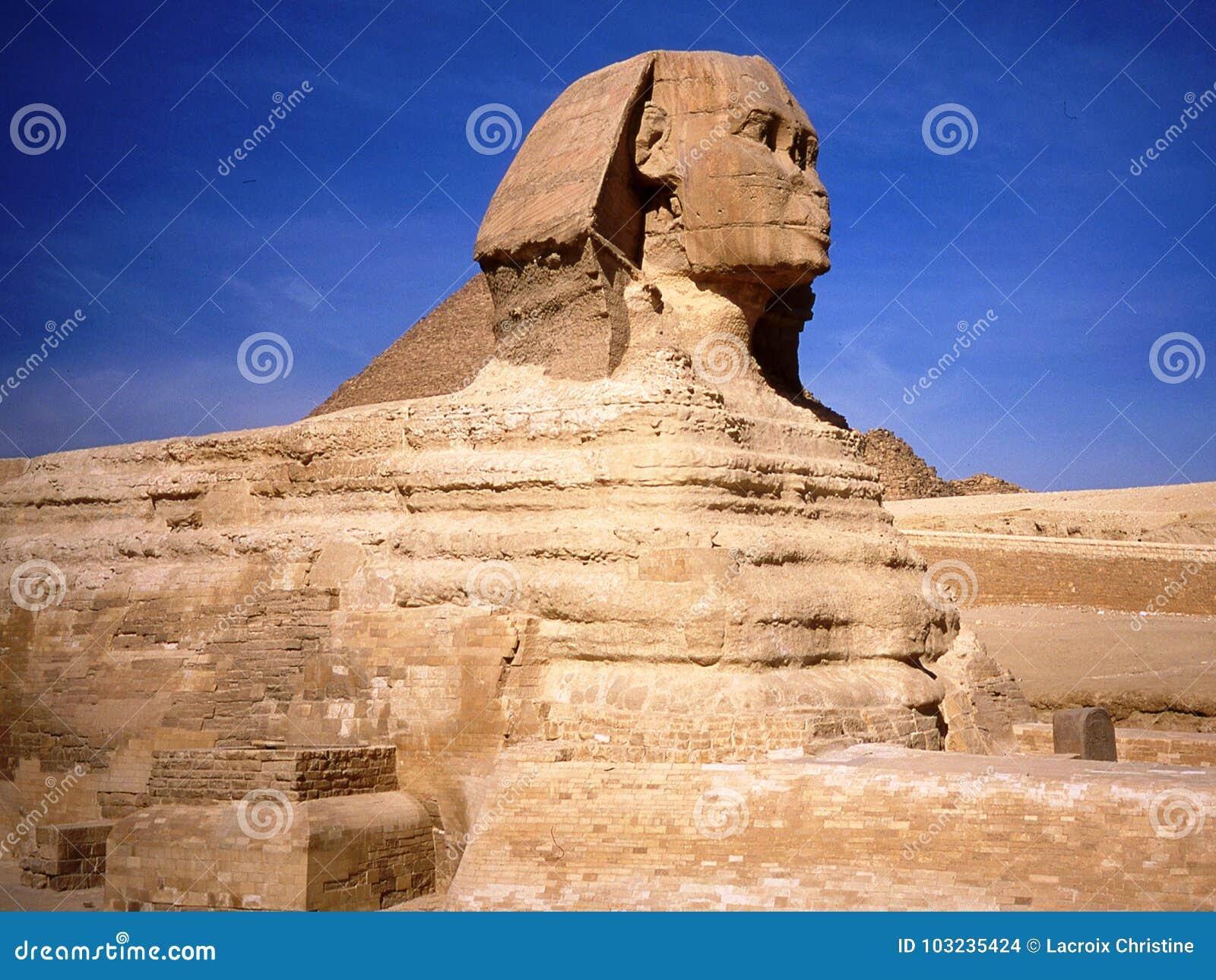 Le sphinx au Caire en Egypte