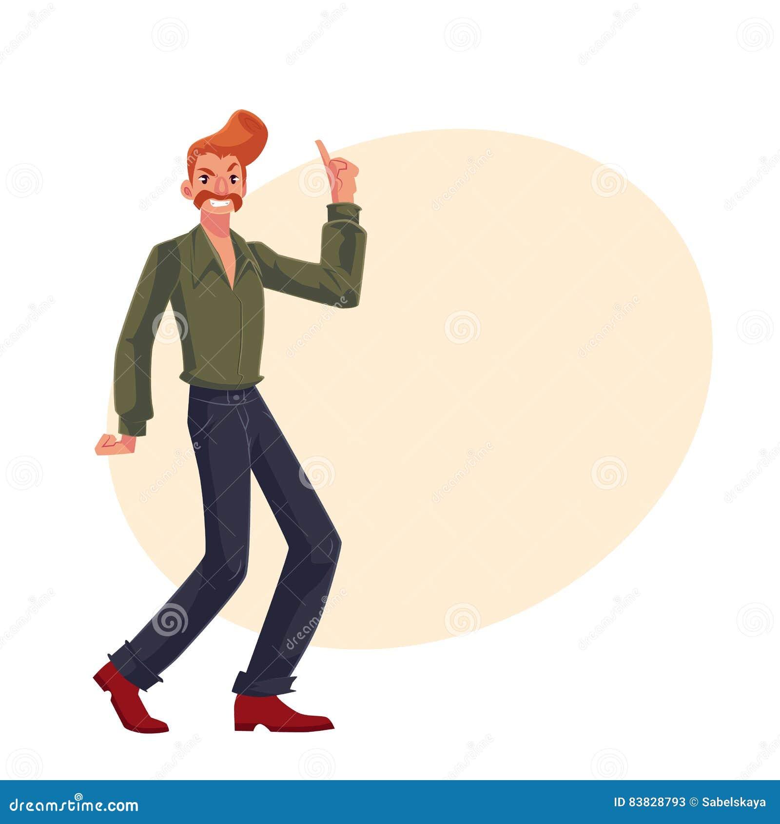 Le Style D Une Chevelure Rouge De L Homme En 1970 S Vetx Avec Des