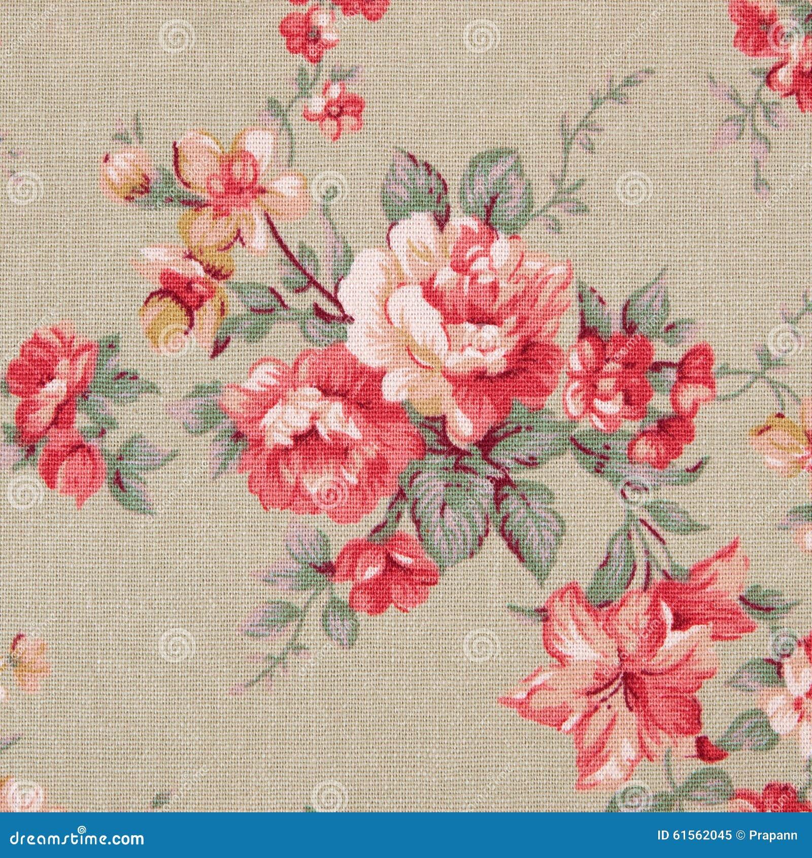 Le style de vintage de la tapisserie fleurit le fond de modèle de tissu