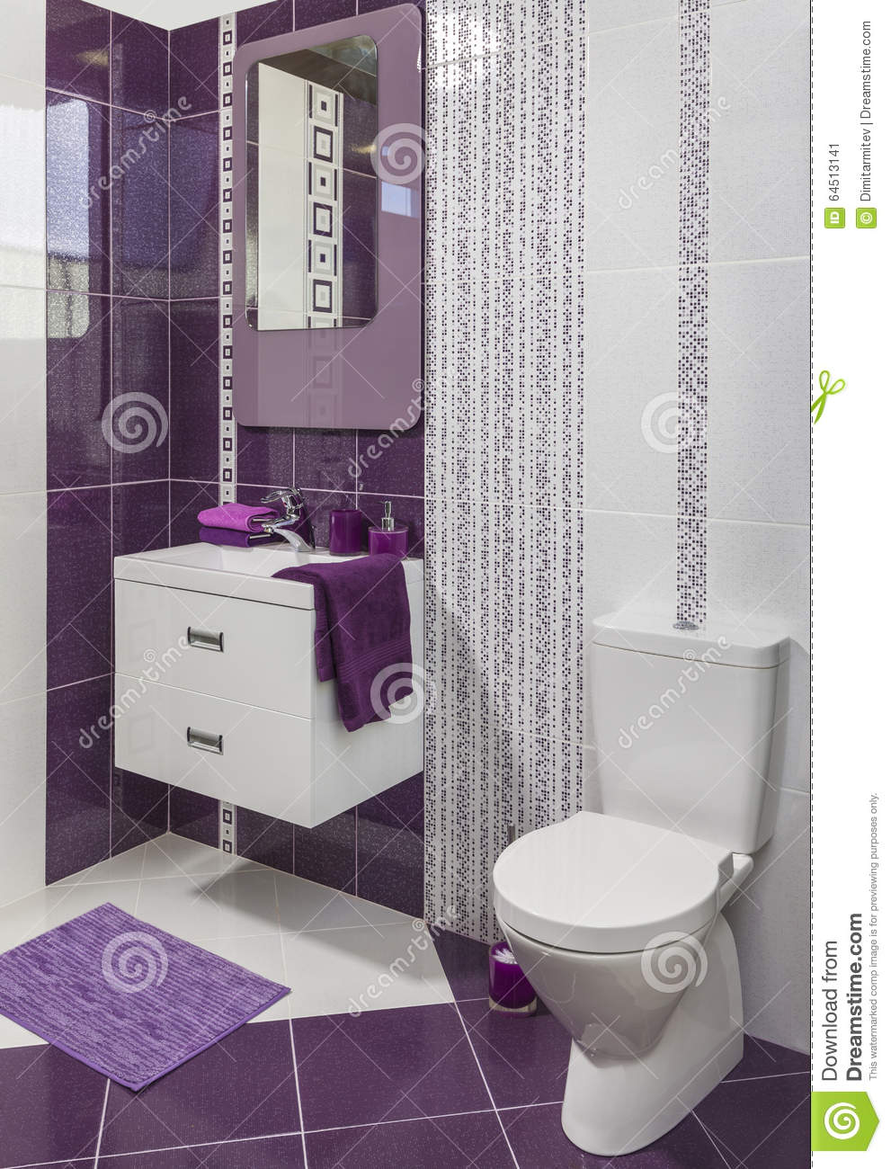Le style moderne de luxe a d cor la toilette photo stock for Photo toilette moderne