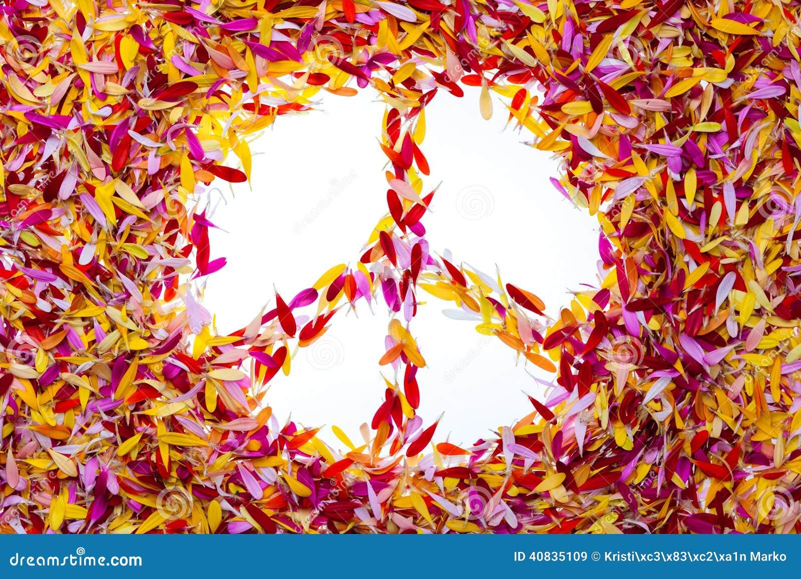 Le symbole de paix l 39 int rieur de des p tales photo for La paix interieur