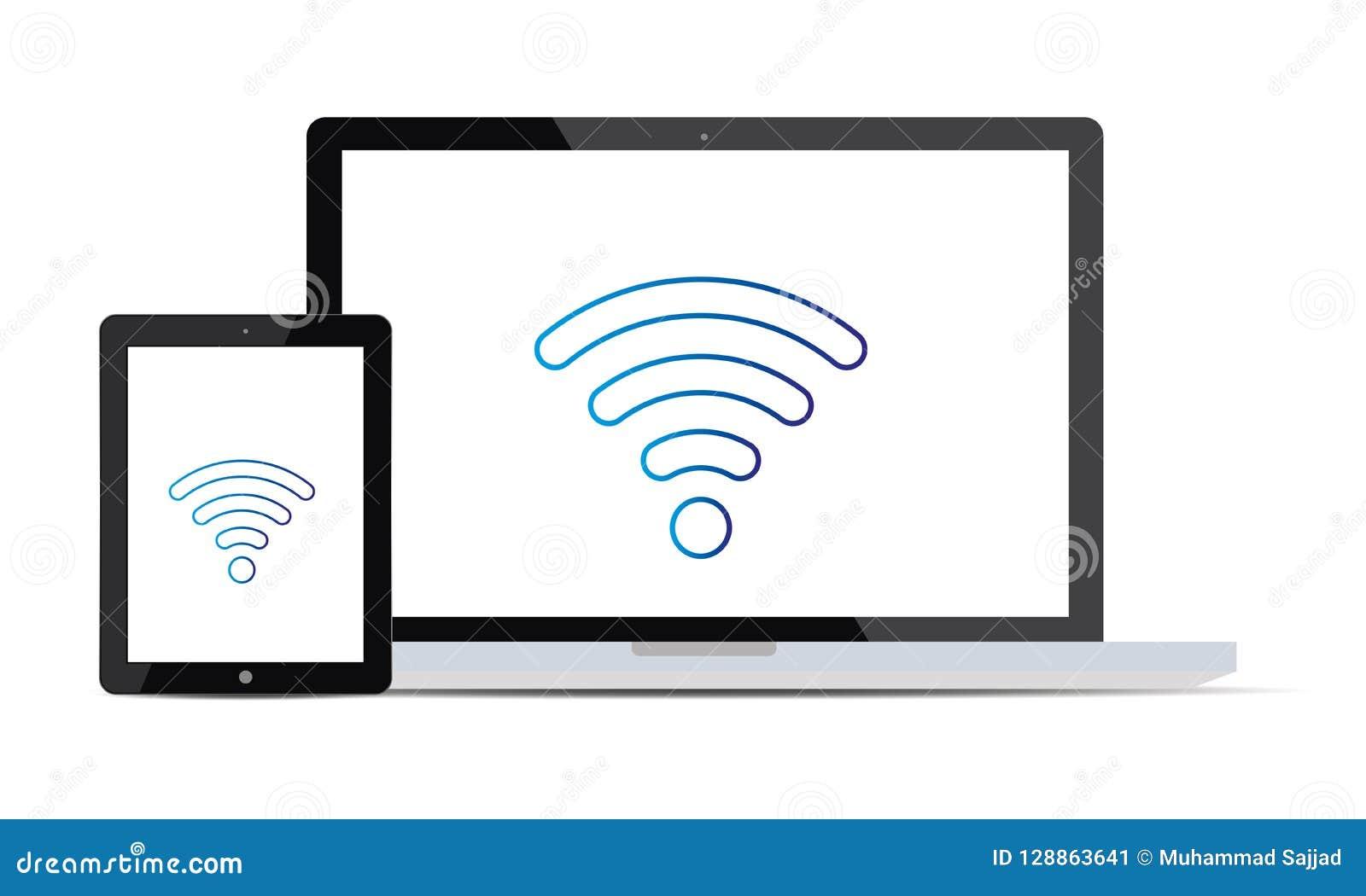 Le téléphone portable d Android est relié à l ordinateur portable par Wi-Fi