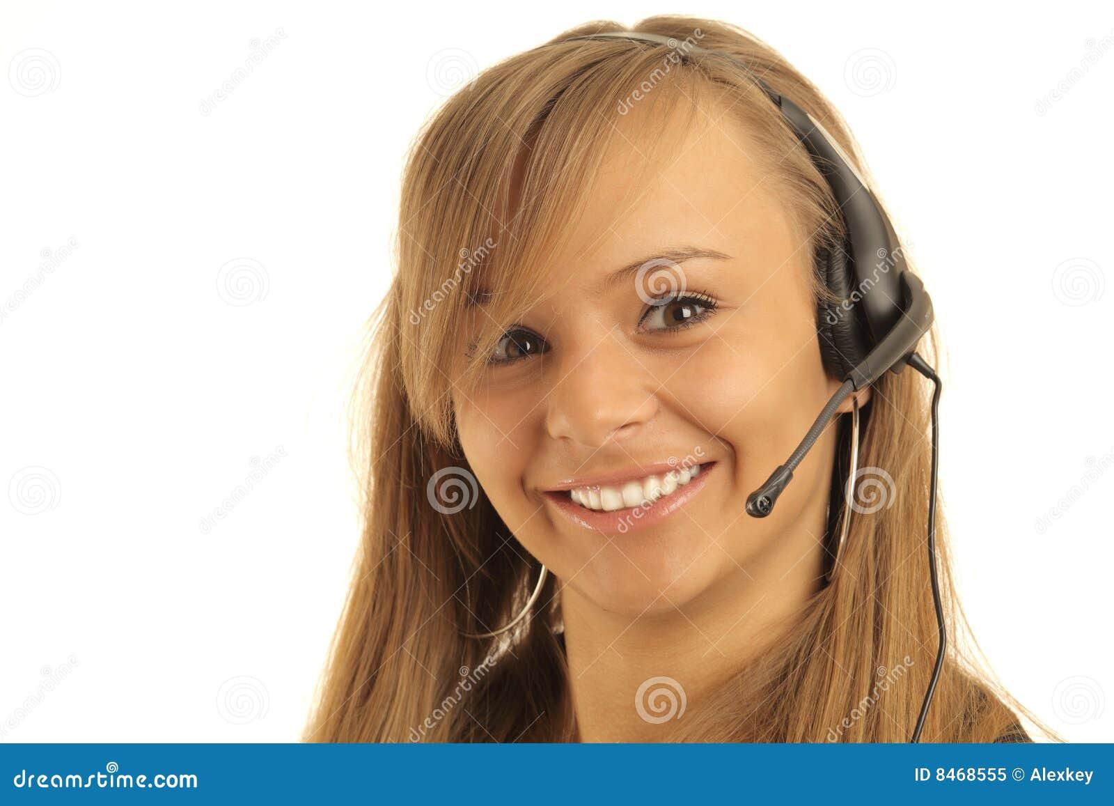 Le telefonbarn för operatör