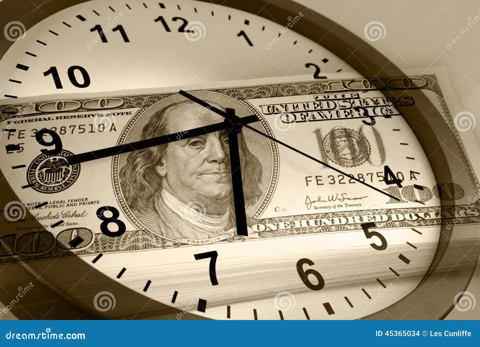 Le temps, c est de l argent concept