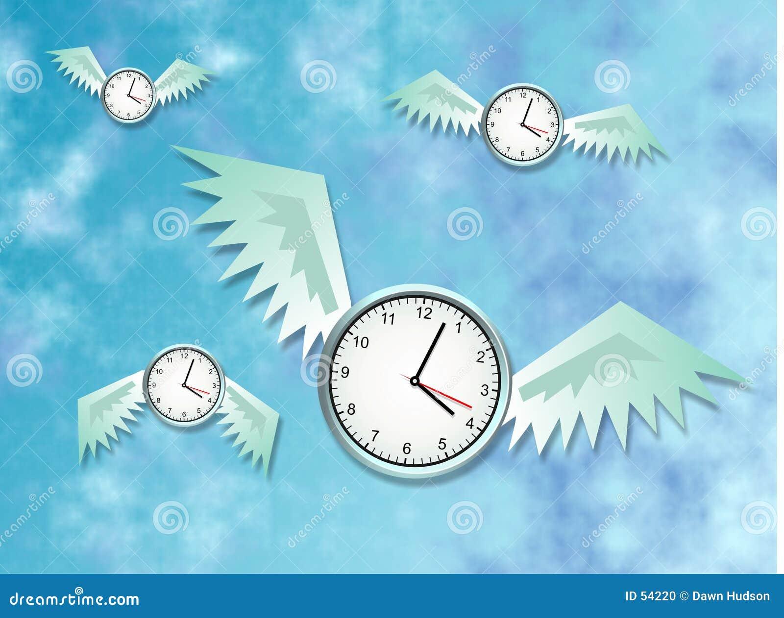 Download Le temps vole illustration stock. Illustration du secondes - 54220