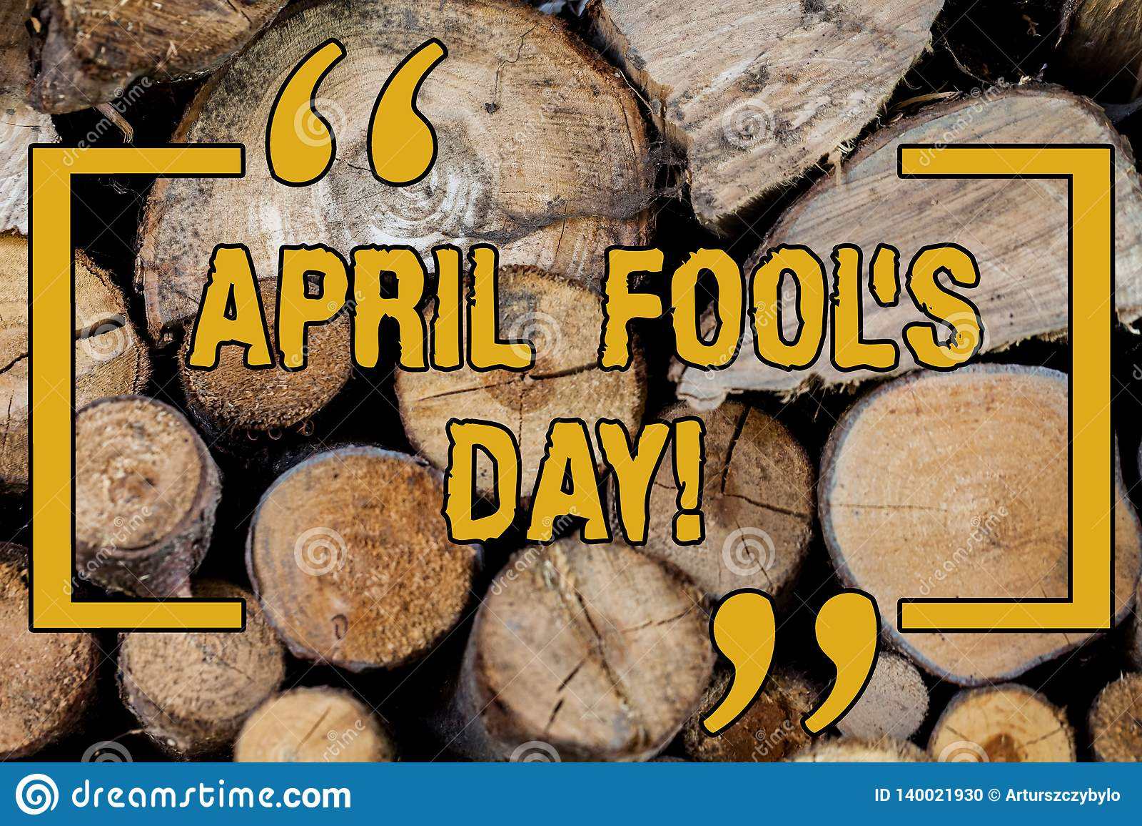 Le texte d écriture écrivant April Fool s est jour Date fixe de signification de concept qui a l occasion pour jouer des tours en