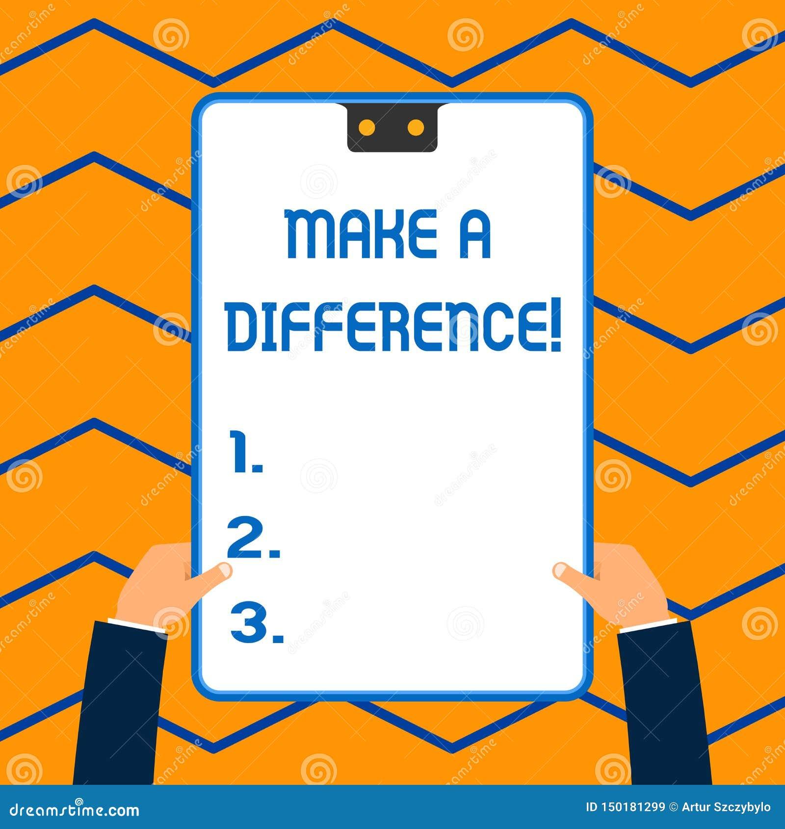 Le texte d ?criture de Word font une diff?rence Le concept d affaires pour exercent l effet significatif ou non sur d?montrer ou