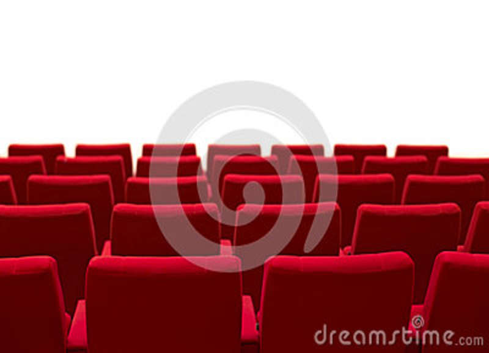 Le th tre rouge et vide pose le fond blanc d 39 isolement photo stock image 45062165 - Le rouge et le blanc ...