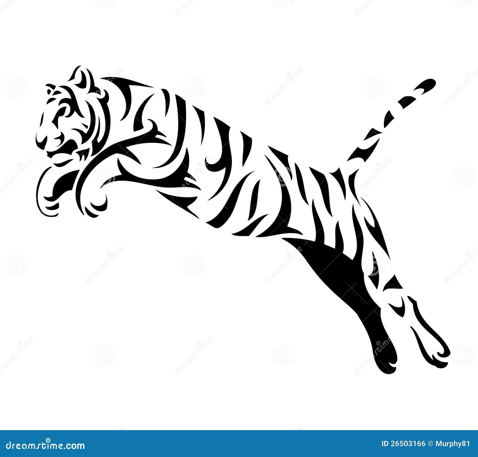 le tigre tribal sautent image libre de droits image x ray clip art images x ray clip art foot