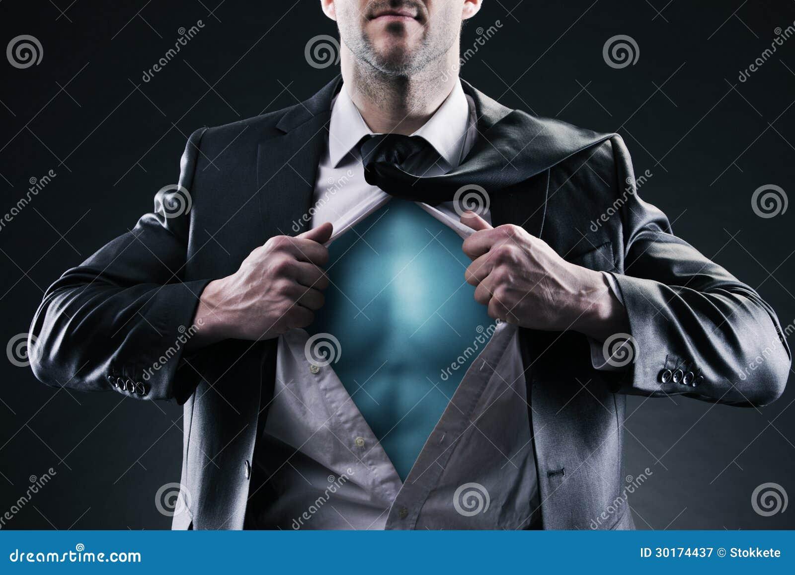 Uomo d affari del supereroe