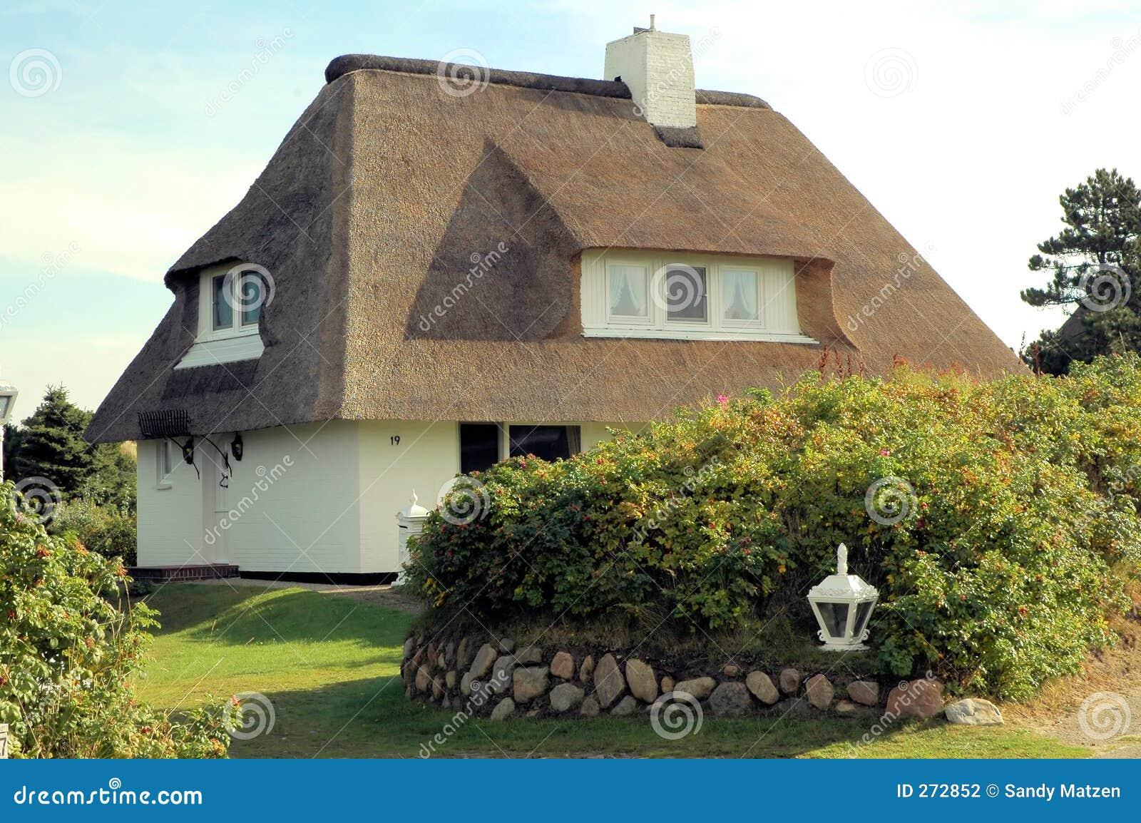 Le toit a couvert house5 de chaume