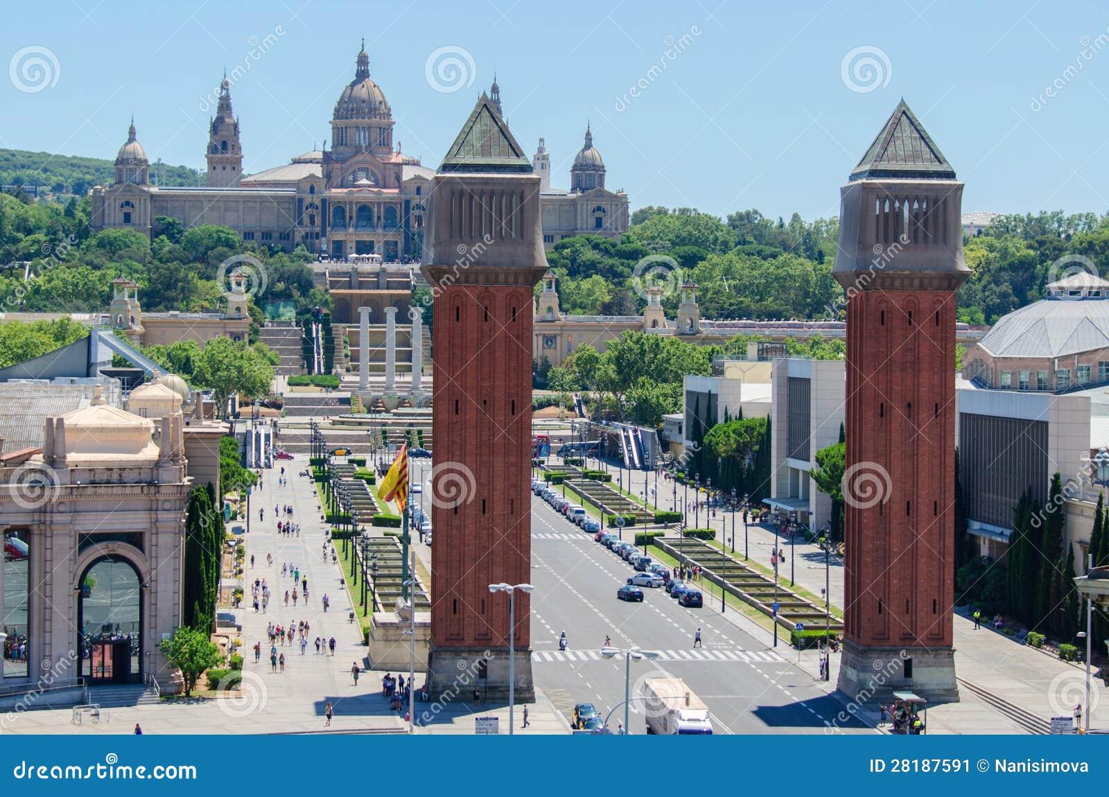 Affitti Barcellona Spagna Of Le Torri Veneziane Piombo Il Modo Al Mnac Barcellona