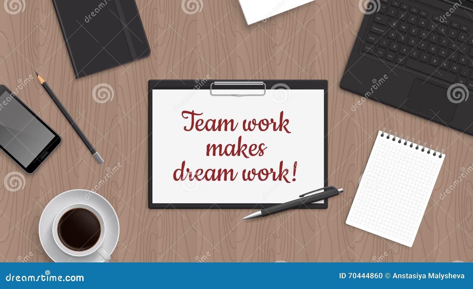 Le Travail D Equipe De Citation Font Le Dreamwork Dans Le Comprime