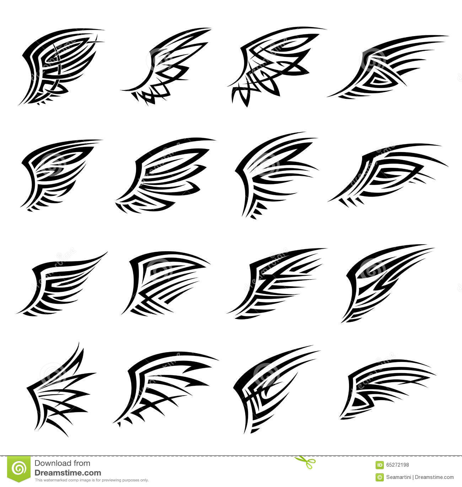 le tribal noir d 39 isolement s 39 envole des ic nes ou des tatouages illustration de vecteur image. Black Bedroom Furniture Sets. Home Design Ideas