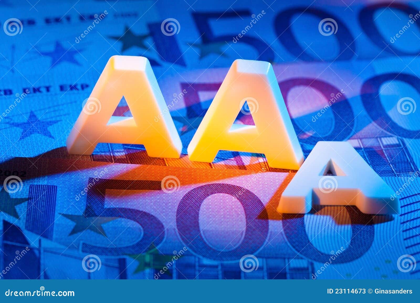 Le triple-a d une agence de notation. D.C.A.