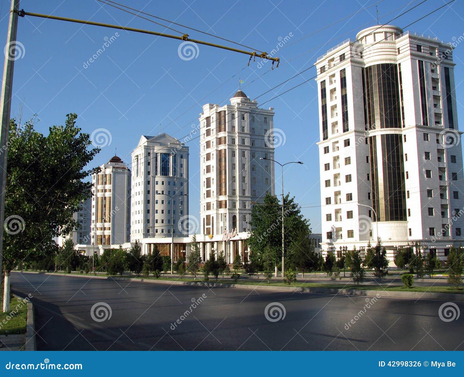 Le Turkménistan - monuments et bâtiments d Achgabat