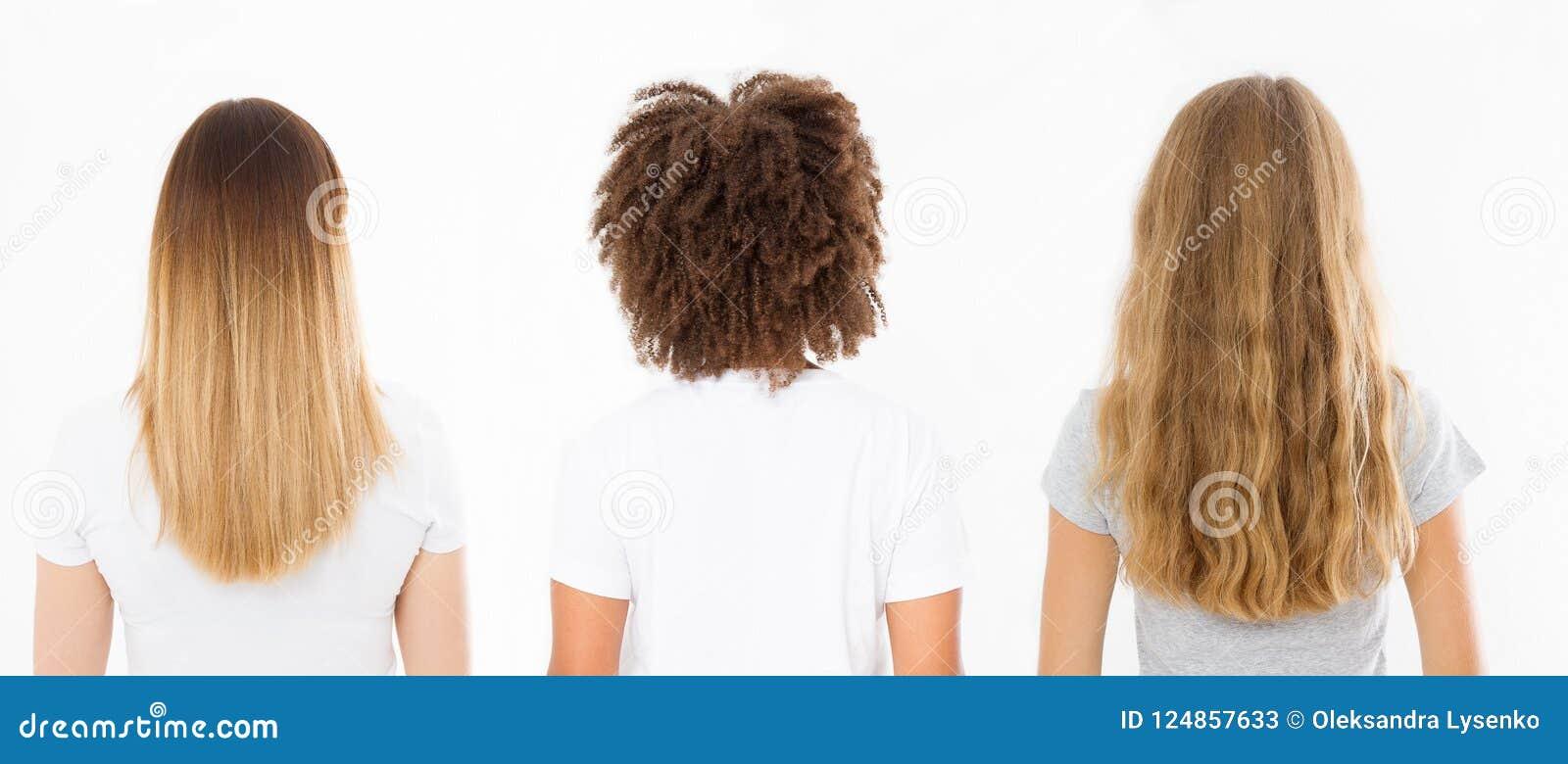 Le Type Caucasien Et Afro De Cheveux De Femme A Ralenti La Vue D Isolement Sur Le Fond Blanc Coiffure Bouclee Africaine Ombre Et Image Stock Image Du Fond Afro 124857633