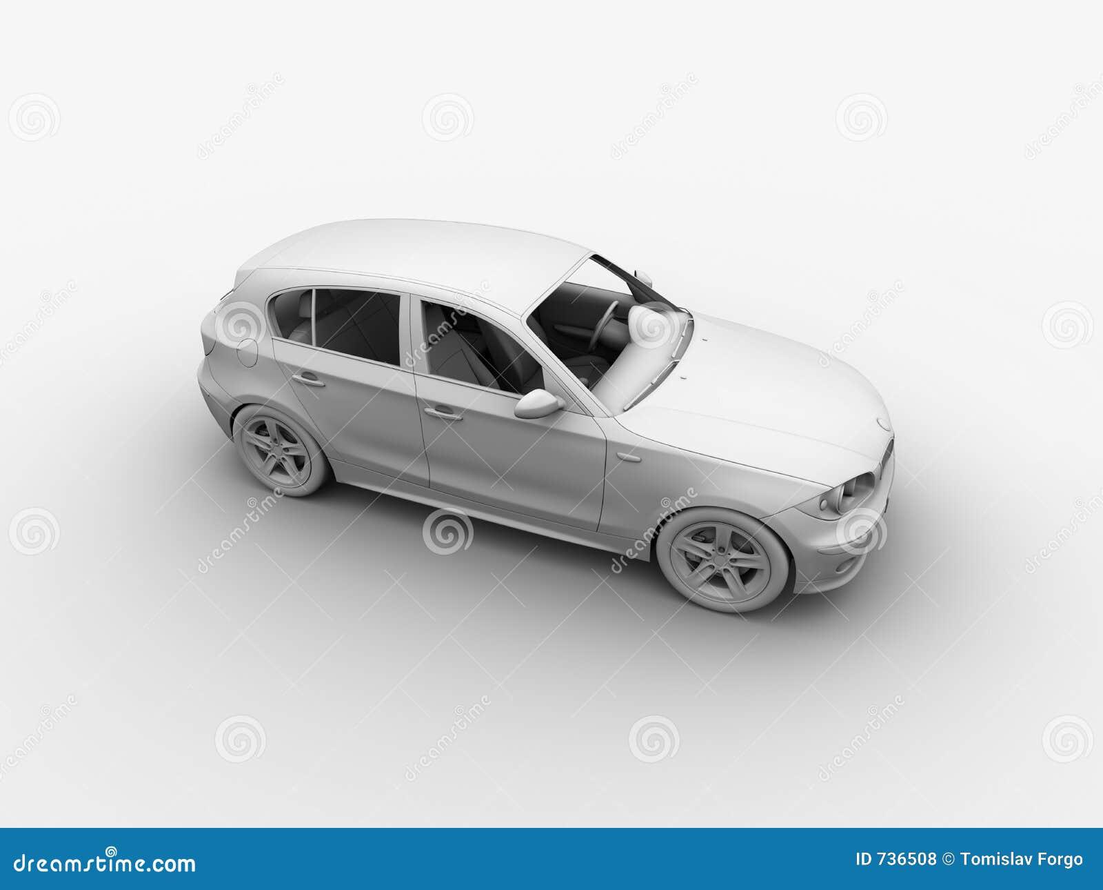Le véhicule 3D d argile rendent