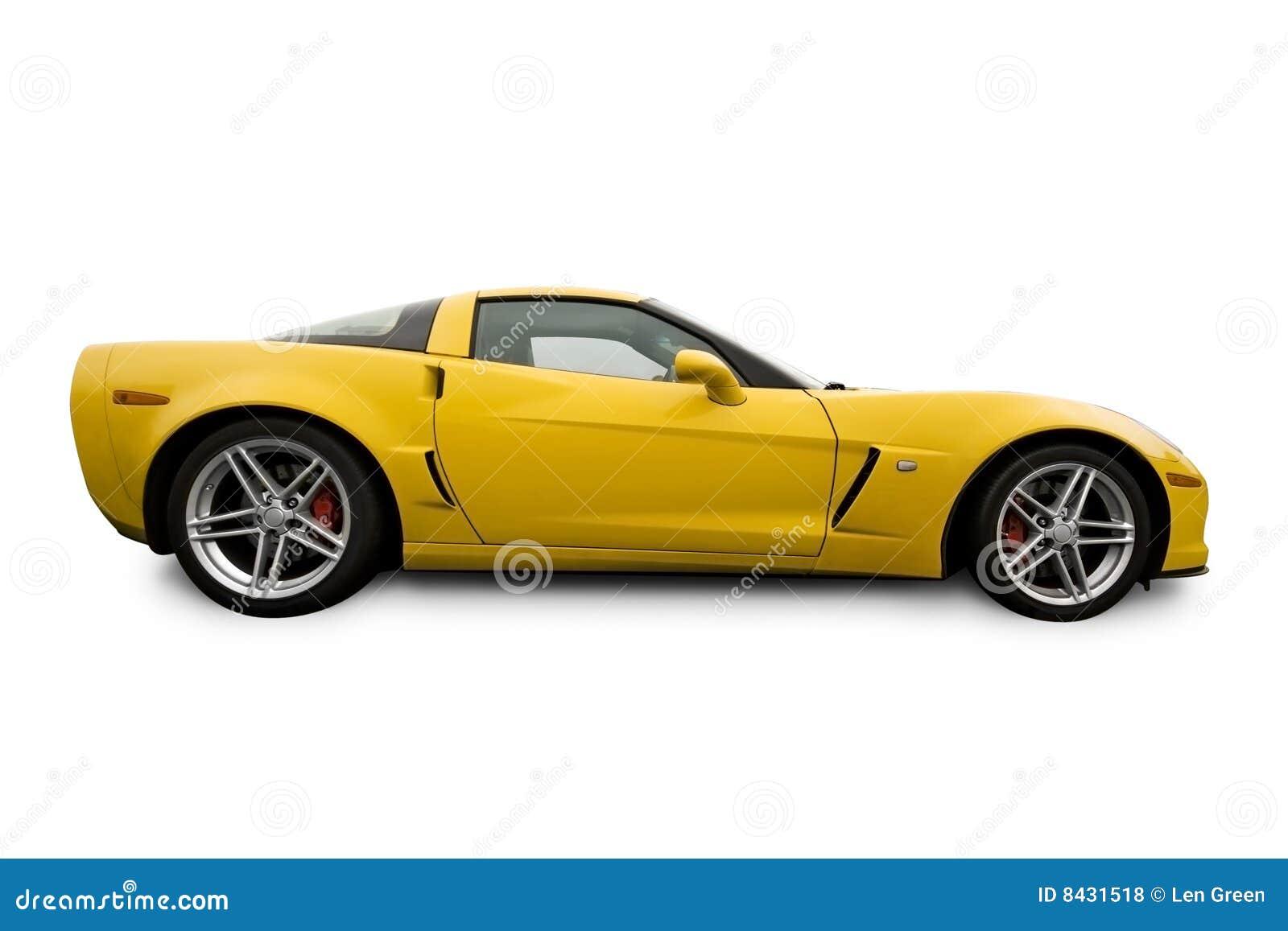 Le véhicule folâtre le jaune