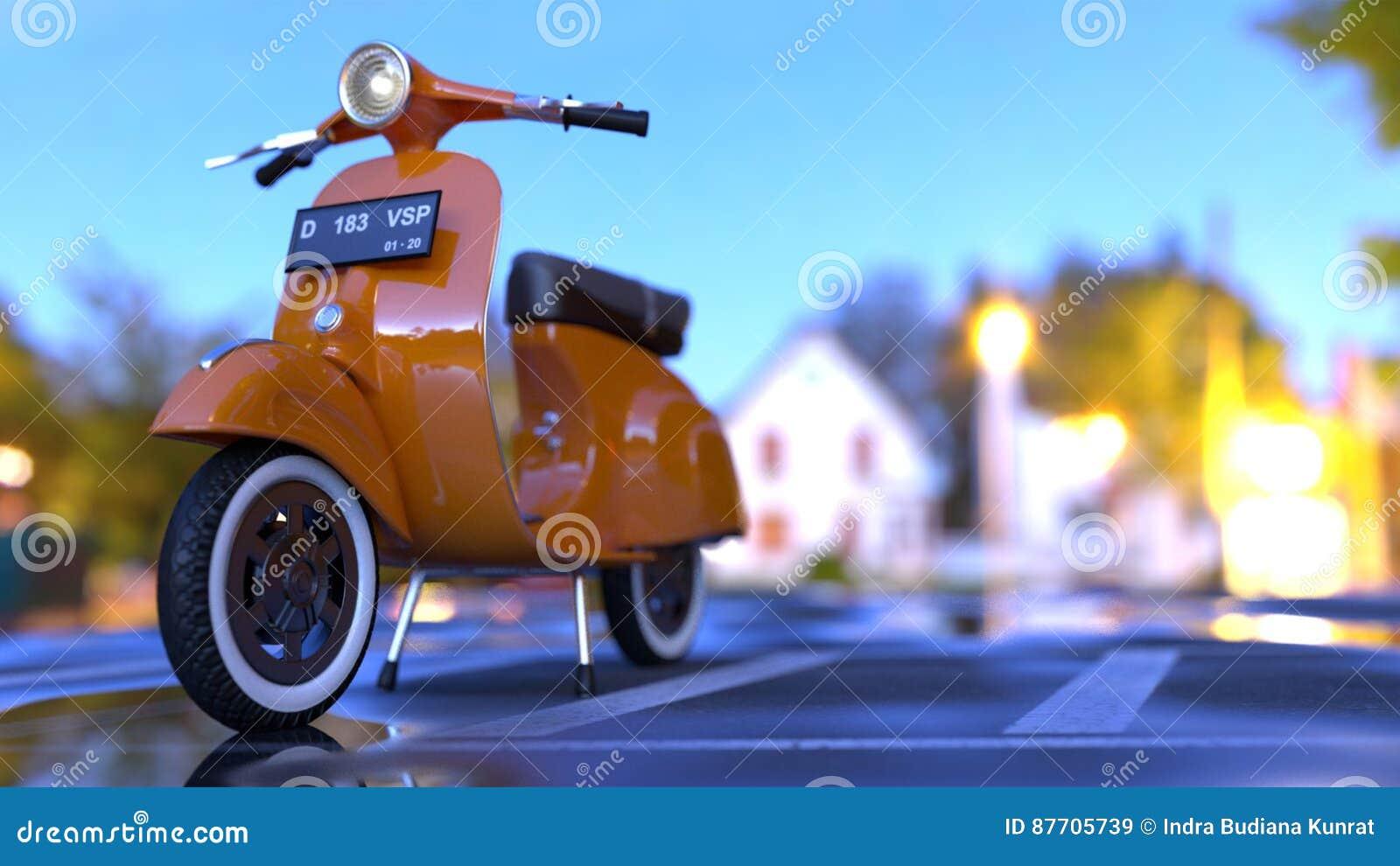 Le vélo orange malaxe la route